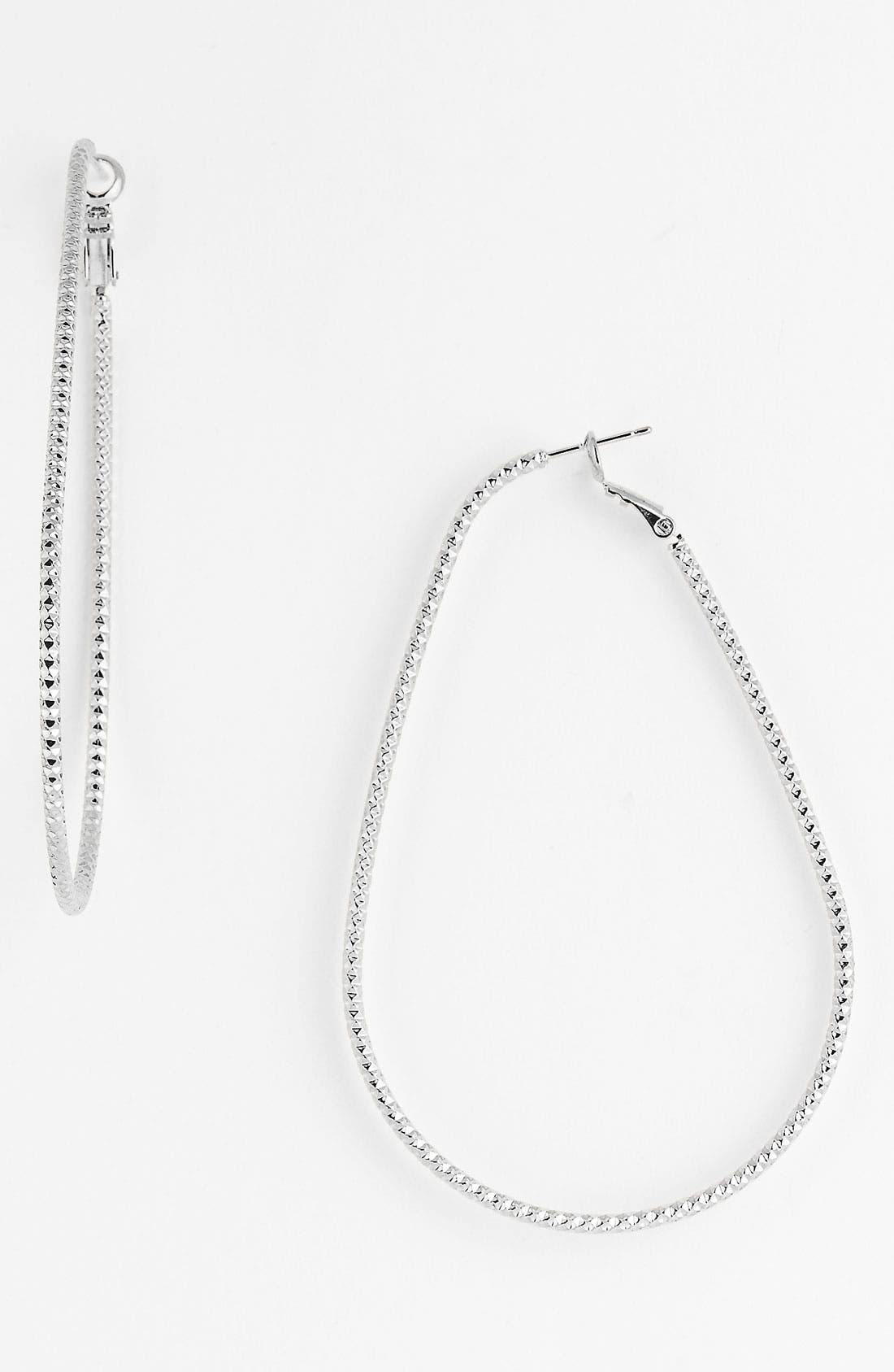 Alternate Image 1 Selected - Natasha Couture Large Oval Hoop Earrings