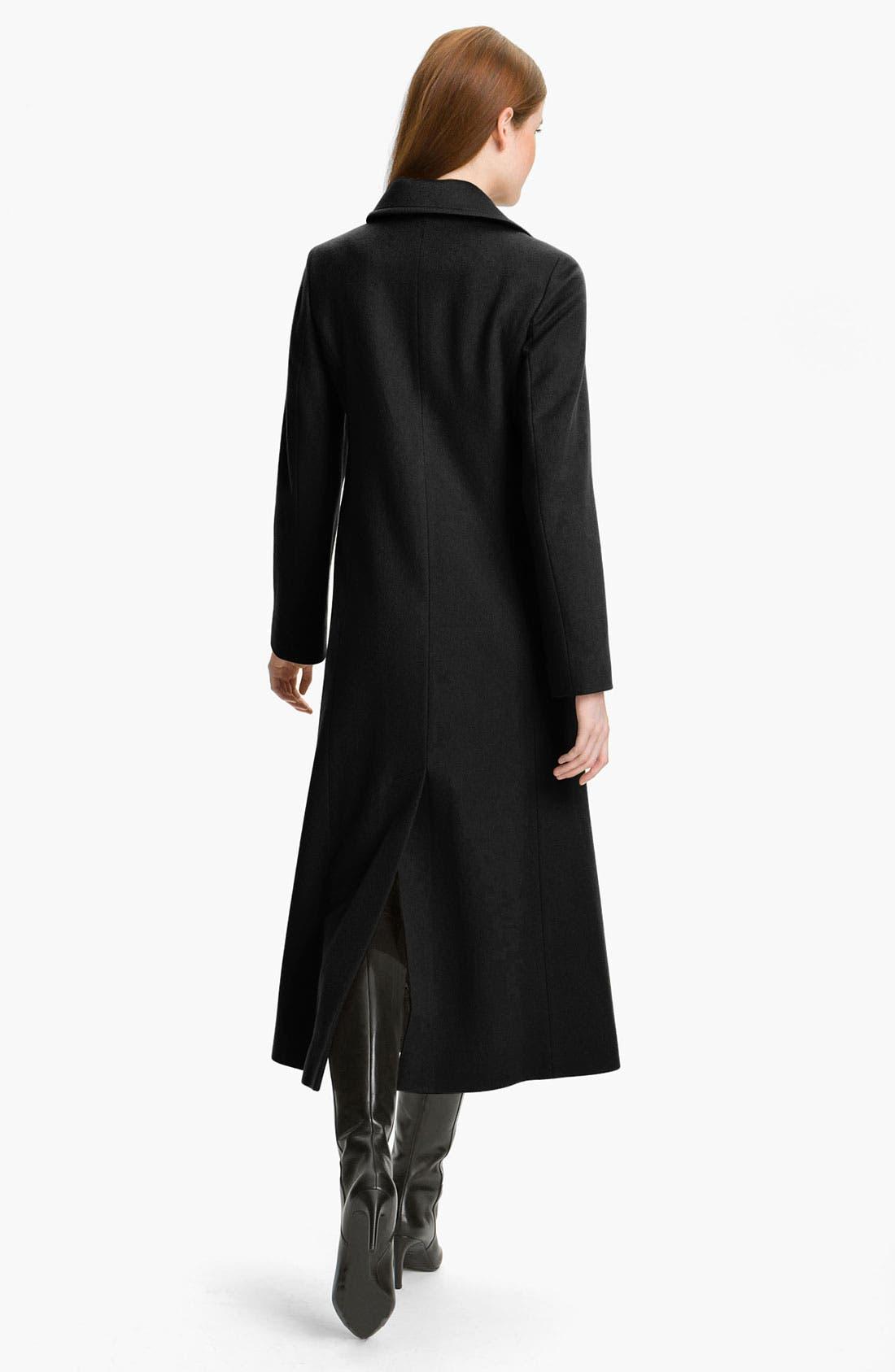 Alternate Image 2  - Fleurette Single Breasted Cashmere Coat