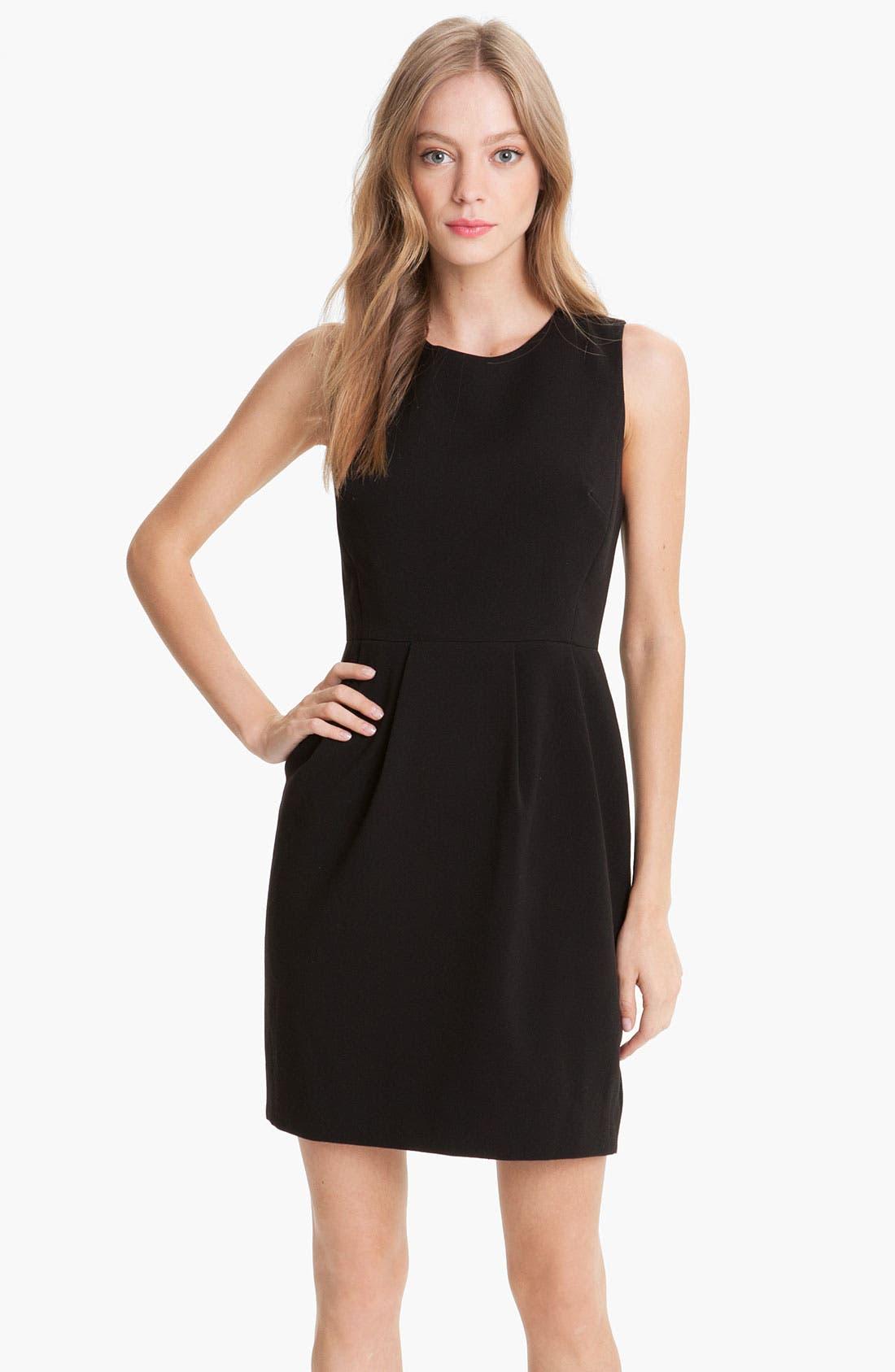 Main Image - kate spade new york 'tiff' pleated sheath dress