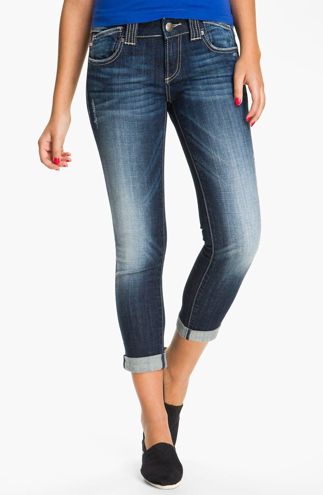 Alternate Image 2  - Vigoss 'Thompson' Stretch Jeans (Dark) (Juniors)