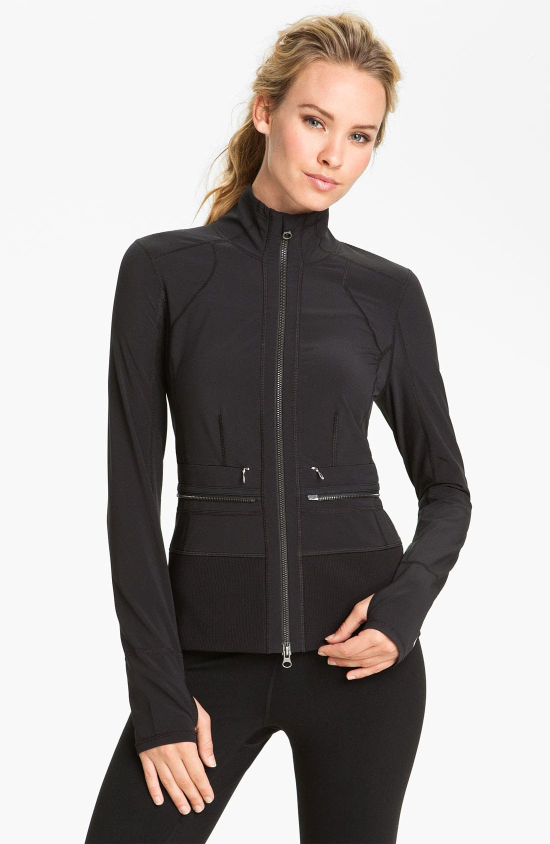 Alternate Image 4  - Zella Zip Off Peplum Jacket