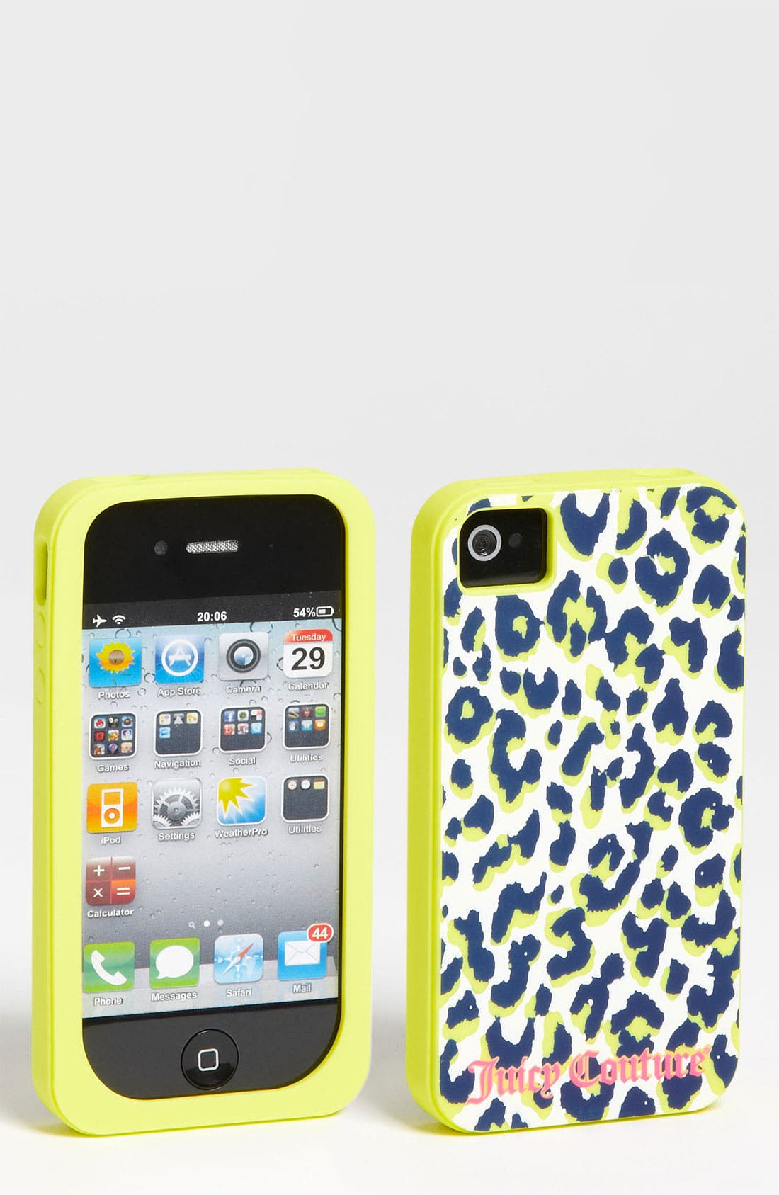 Alternate Image 1 Selected - Juicy Couture Leopard Print iPhone 4 & 4S Case (Girls)