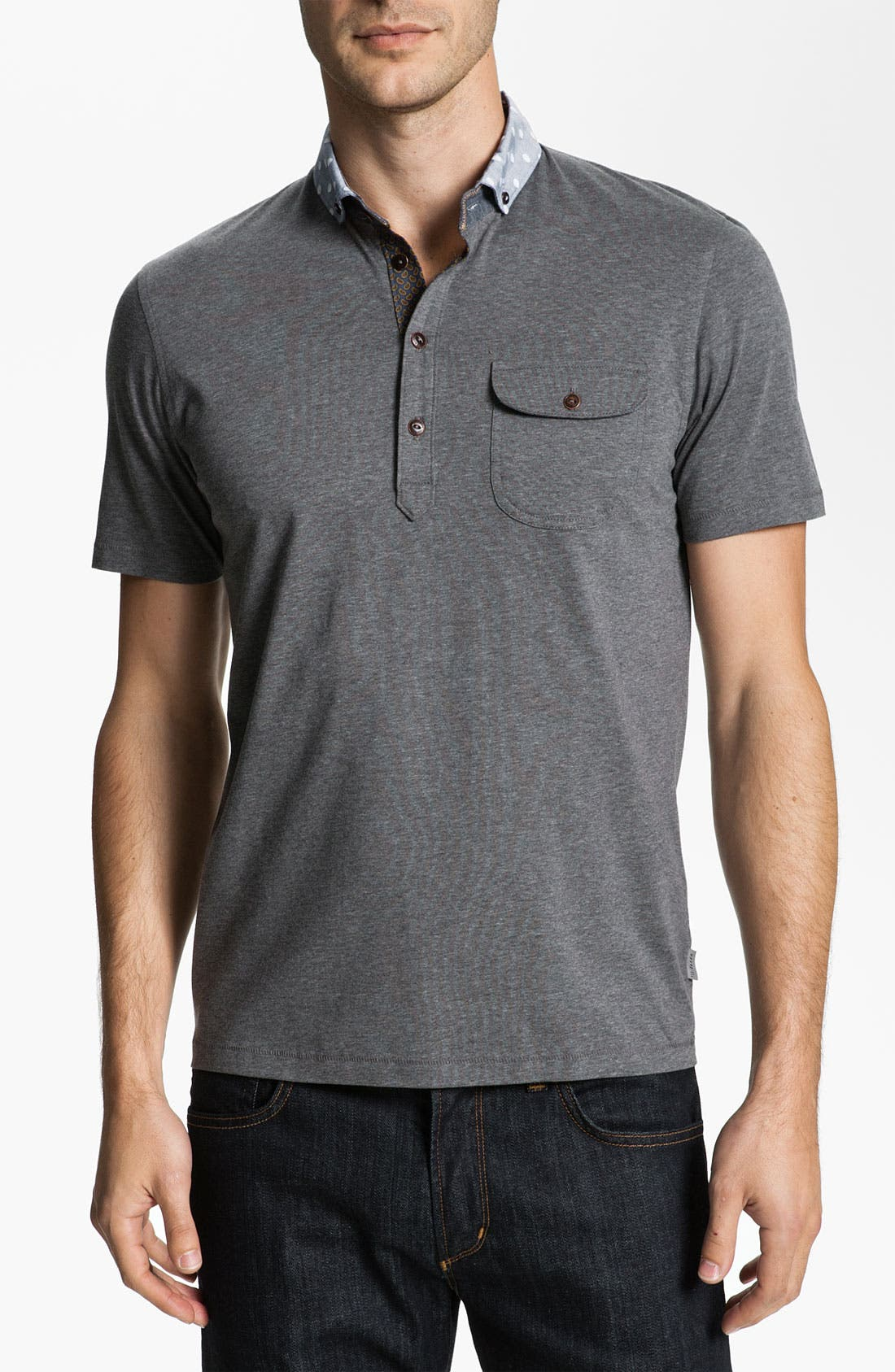 Main Image - Ted Baker London 'Saturdy' Woven Collar Polo