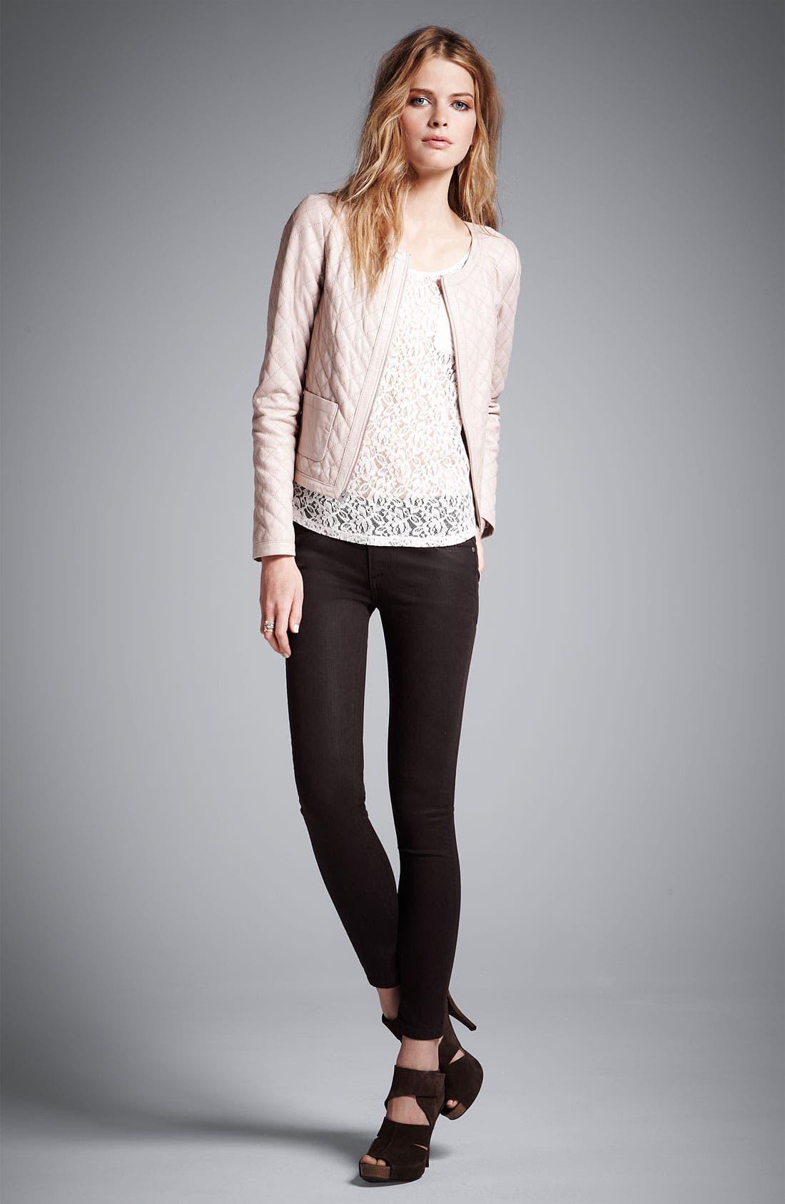 Alternate Image 6  - Paige Denim 'Verdugo' Coated Skinny Jeans (Java)