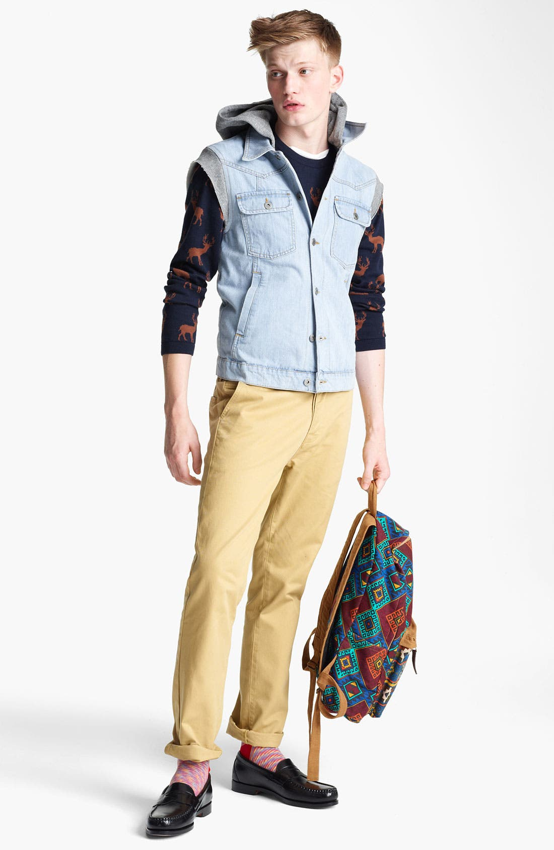 Alternate Image 4  - Topman 'Spade' Hooded Denim Vest