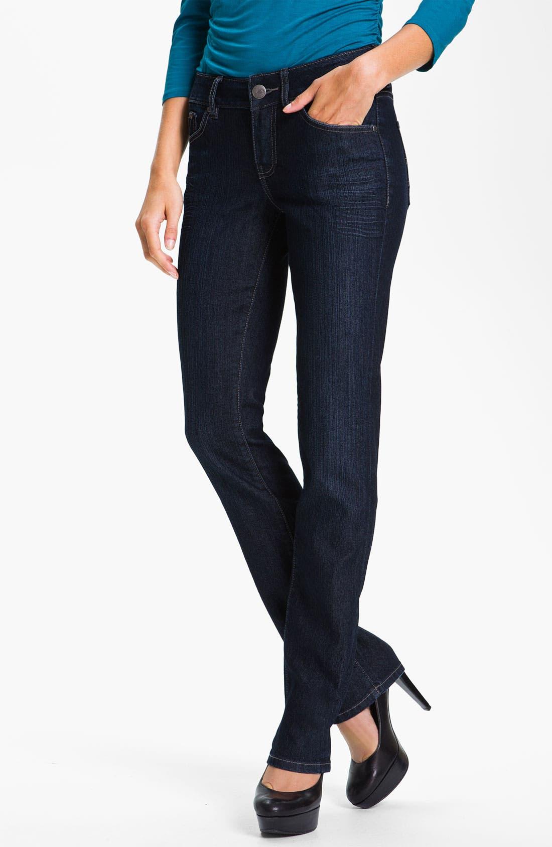 Alternate Image 1 Selected - Jag Jeans 'Eden' Straight Leg Jeans (Indigo) (Petite)
