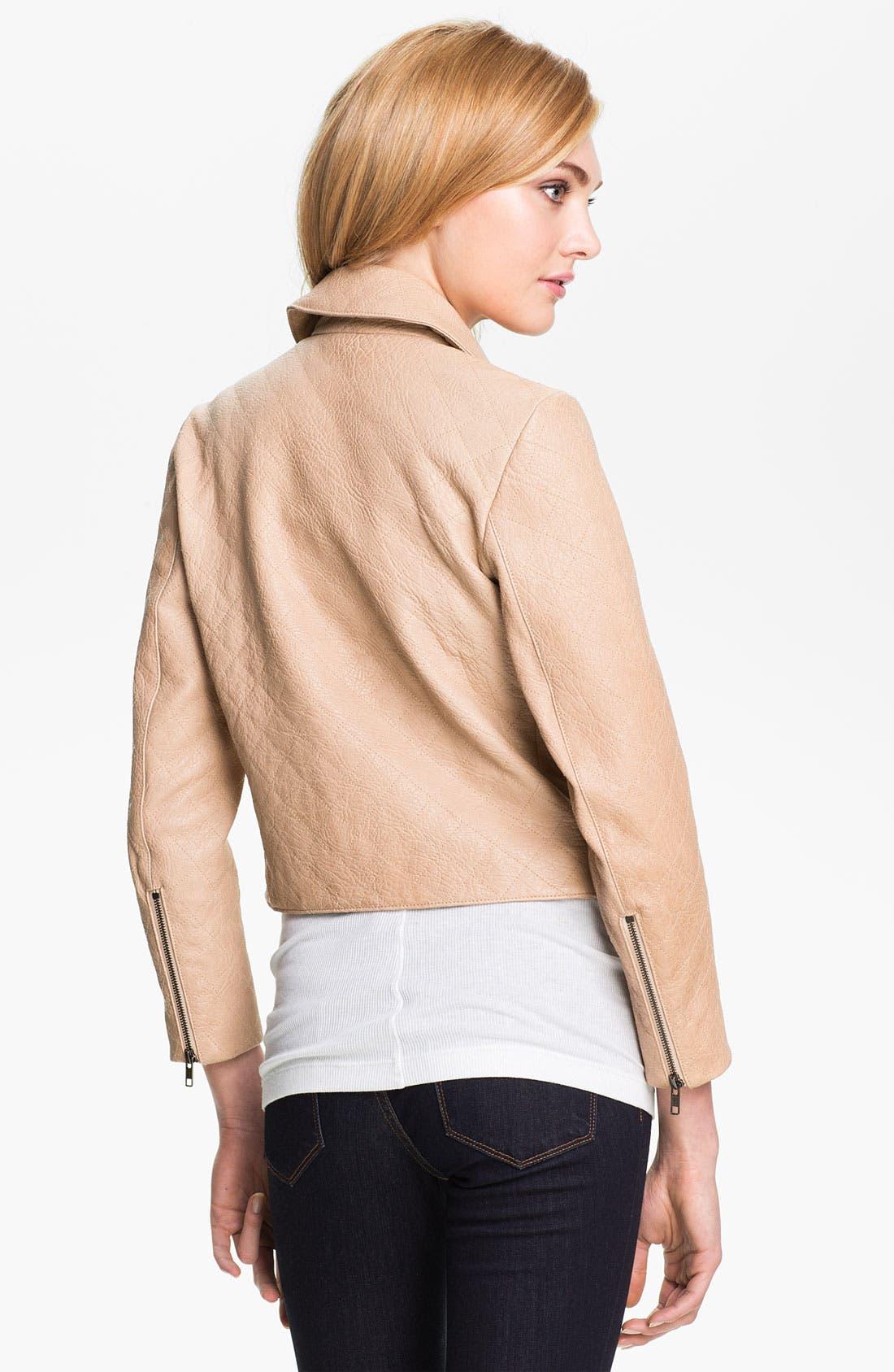 Alternate Image 3  - Theory 'Madigan - Juno' Crop Leather Jacket