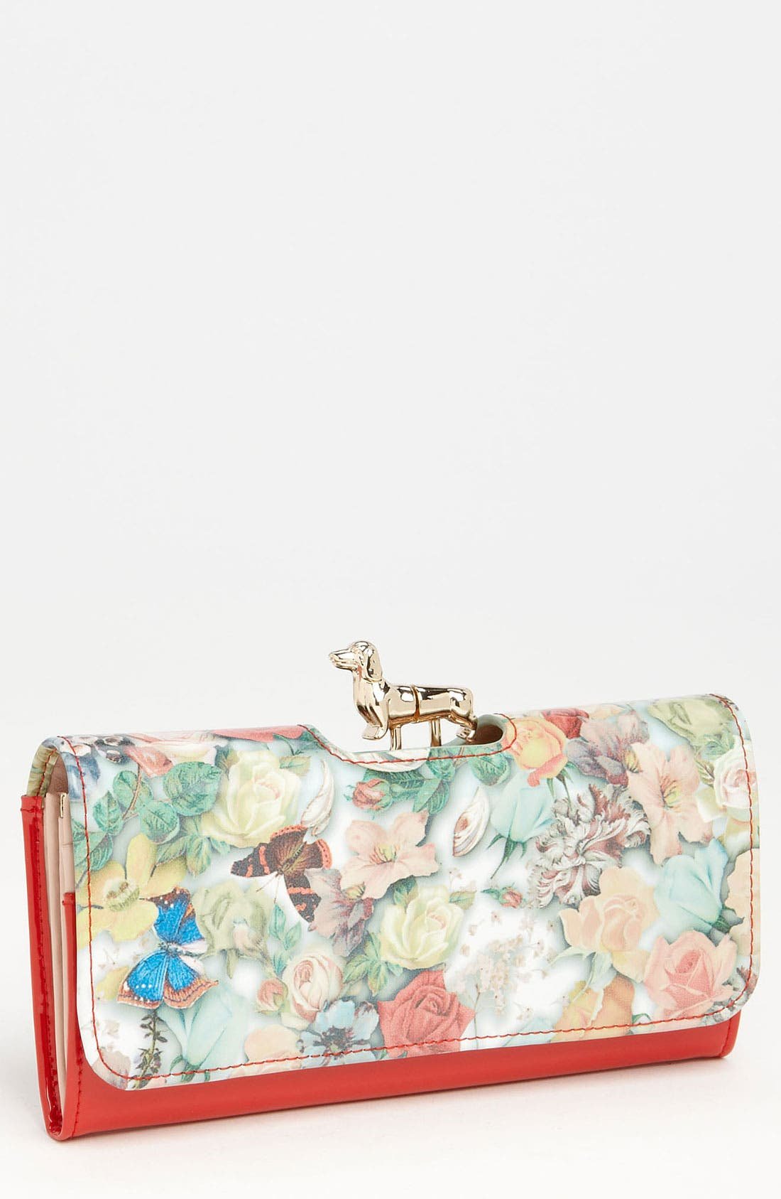 Alternate Image 1 Selected - Ted Baker London 'Decoupage - Dachshund Bobble' Matinee Wallet