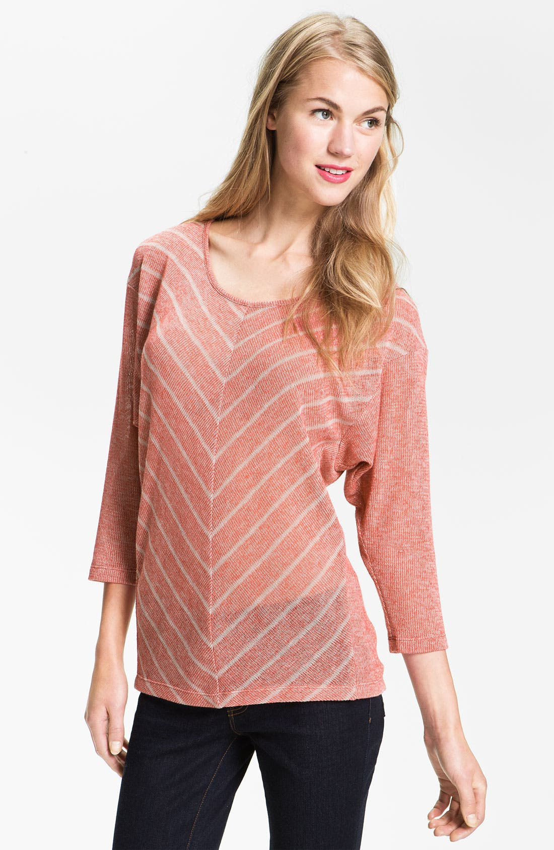 Alternate Image 1 Selected - Olivia Moon Chevron Stripe Dolman Tee