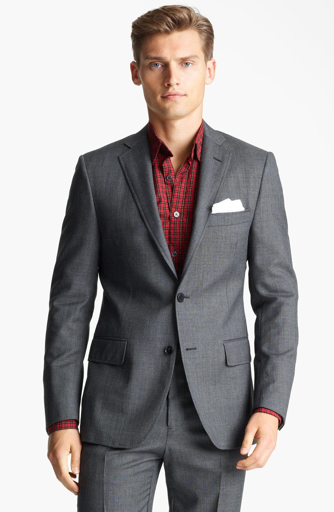 Alternate Image 1 Selected - Billy Reid 'Campbell Nailhead - Heirloom Collection' Wool Suit