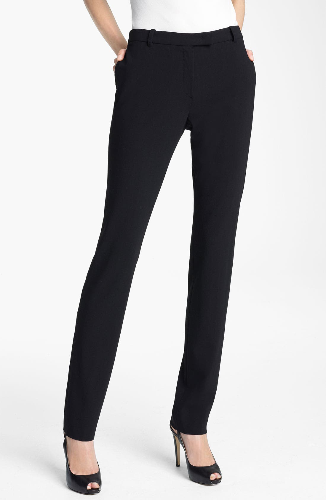 Alternate Image 1 Selected - Armani Collezioni Crepe Pants