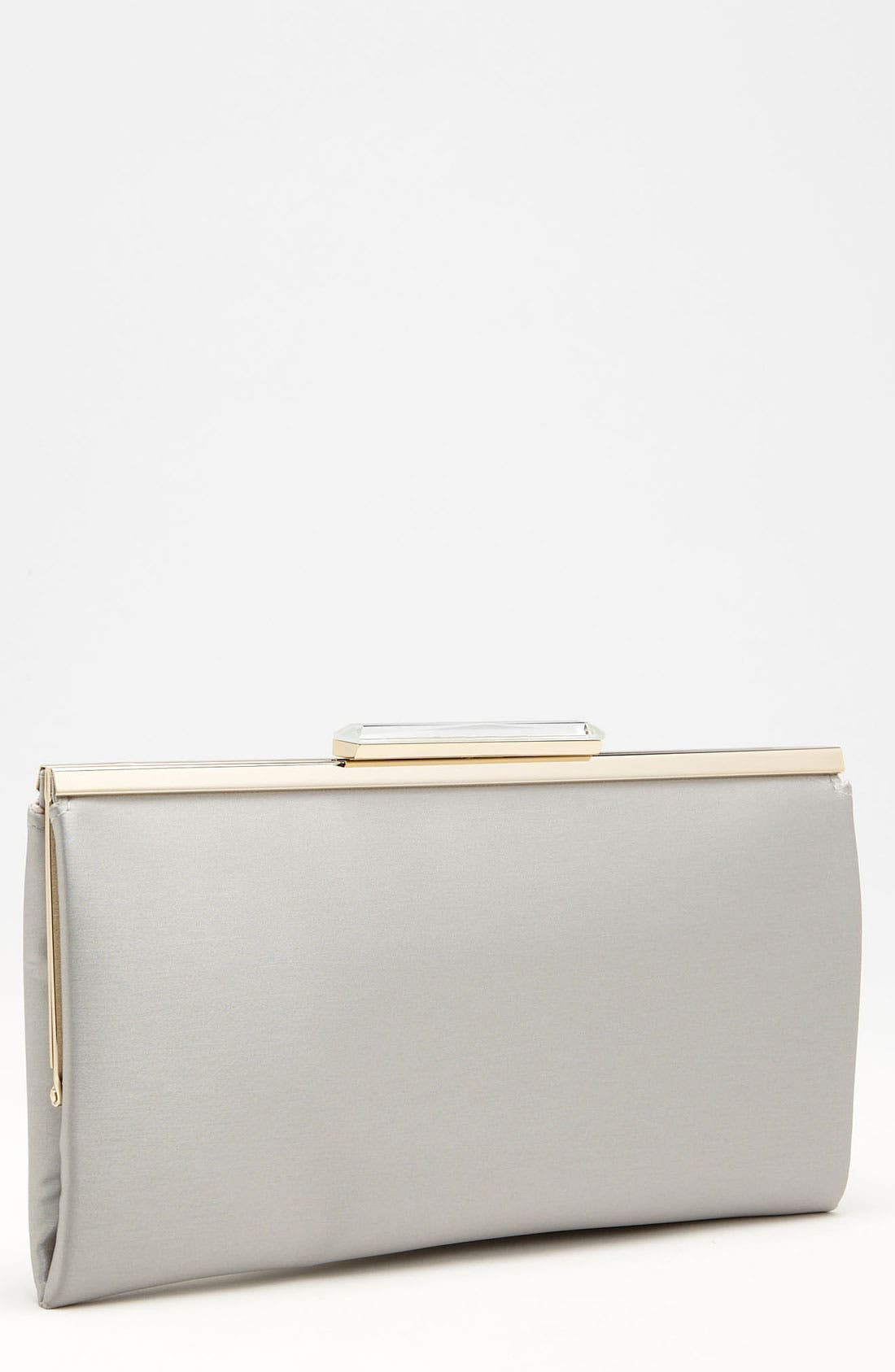 Crystal Topper Clutch,                         Main,                         color, Silver