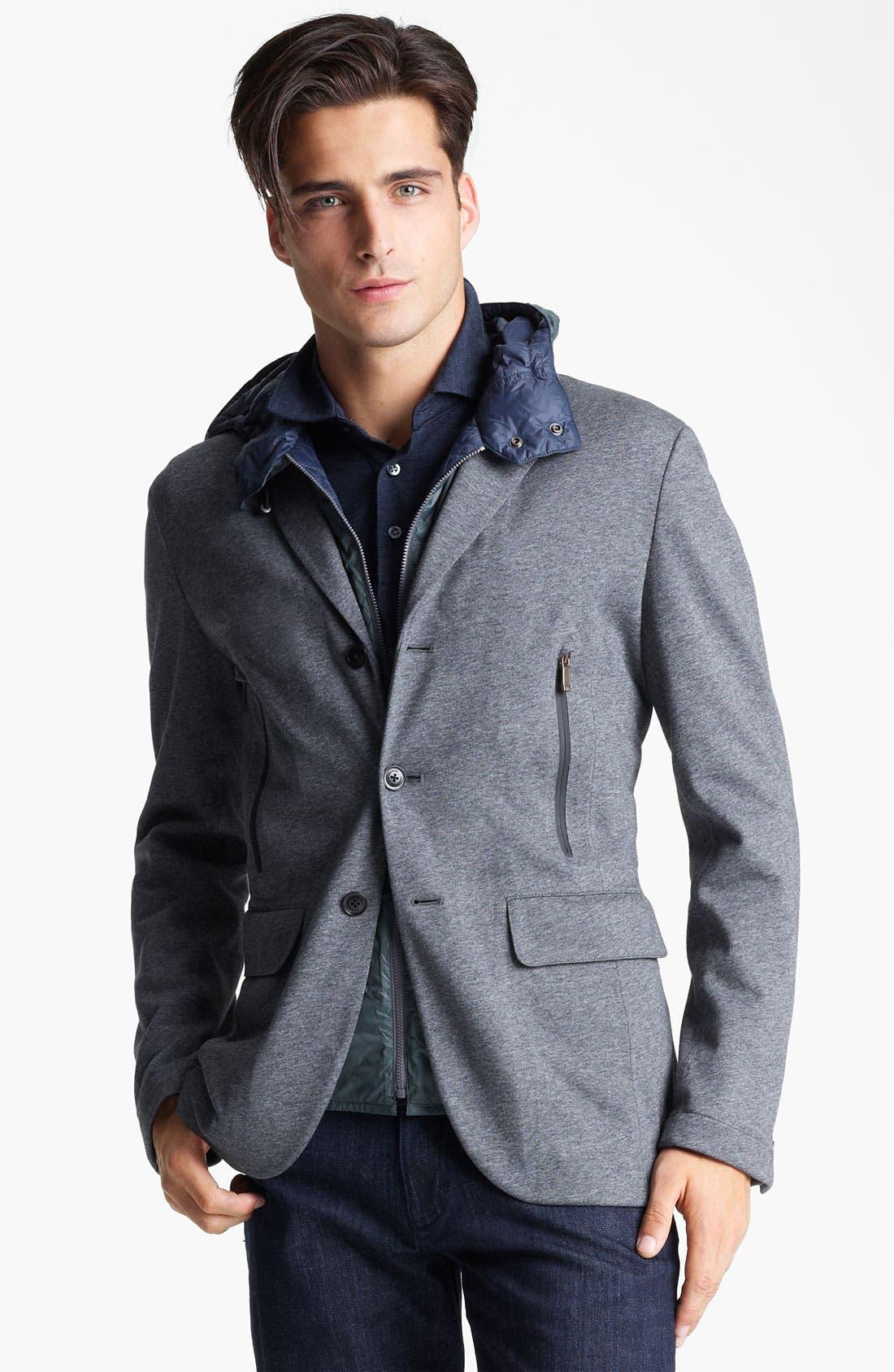 Alternate Image 1 Selected - Zegna Sport COOLMAX® Hooded Blazer