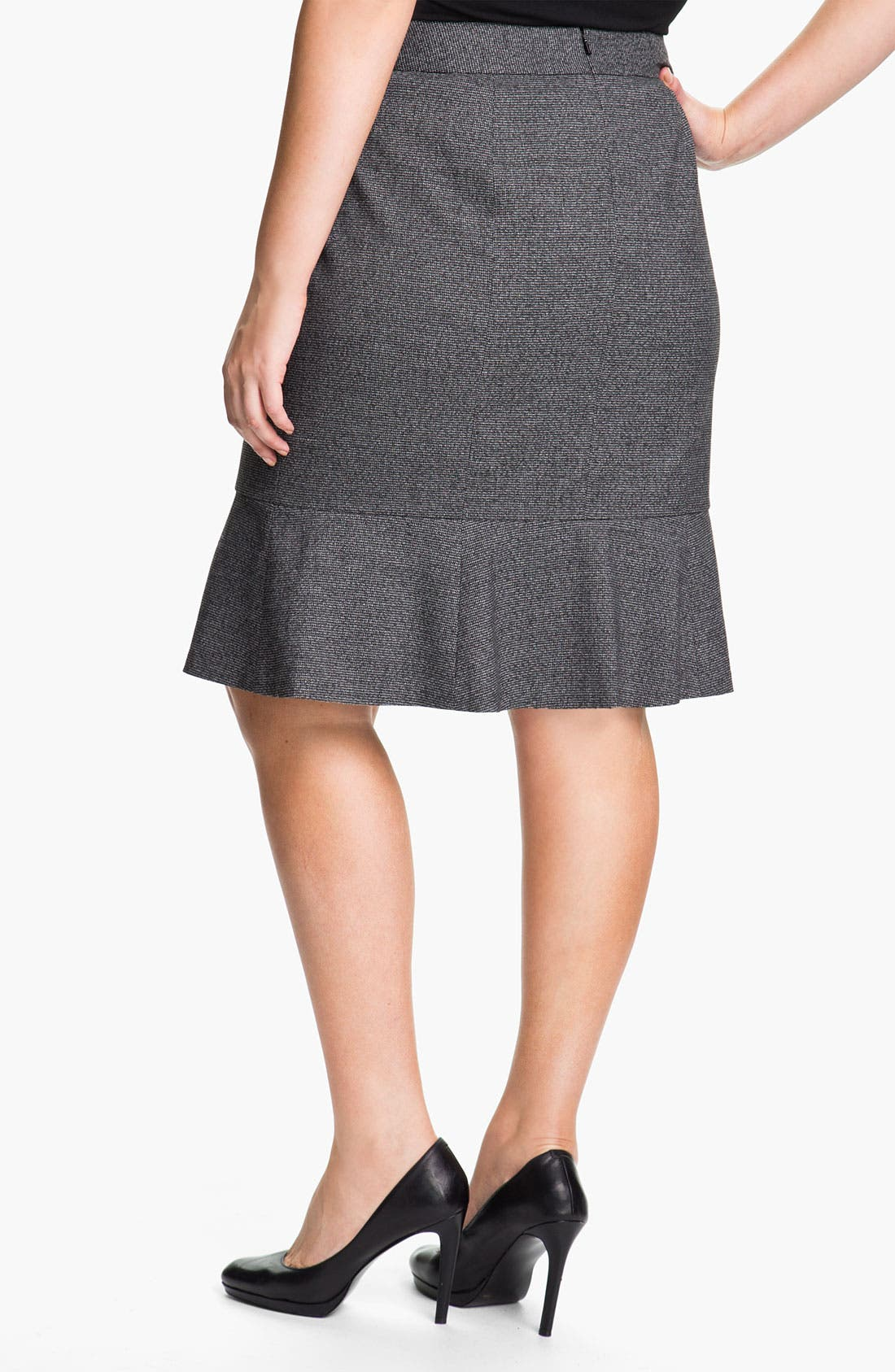 Alternate Image 2  - Sejour Herringbone Suit Skirt (Plus)