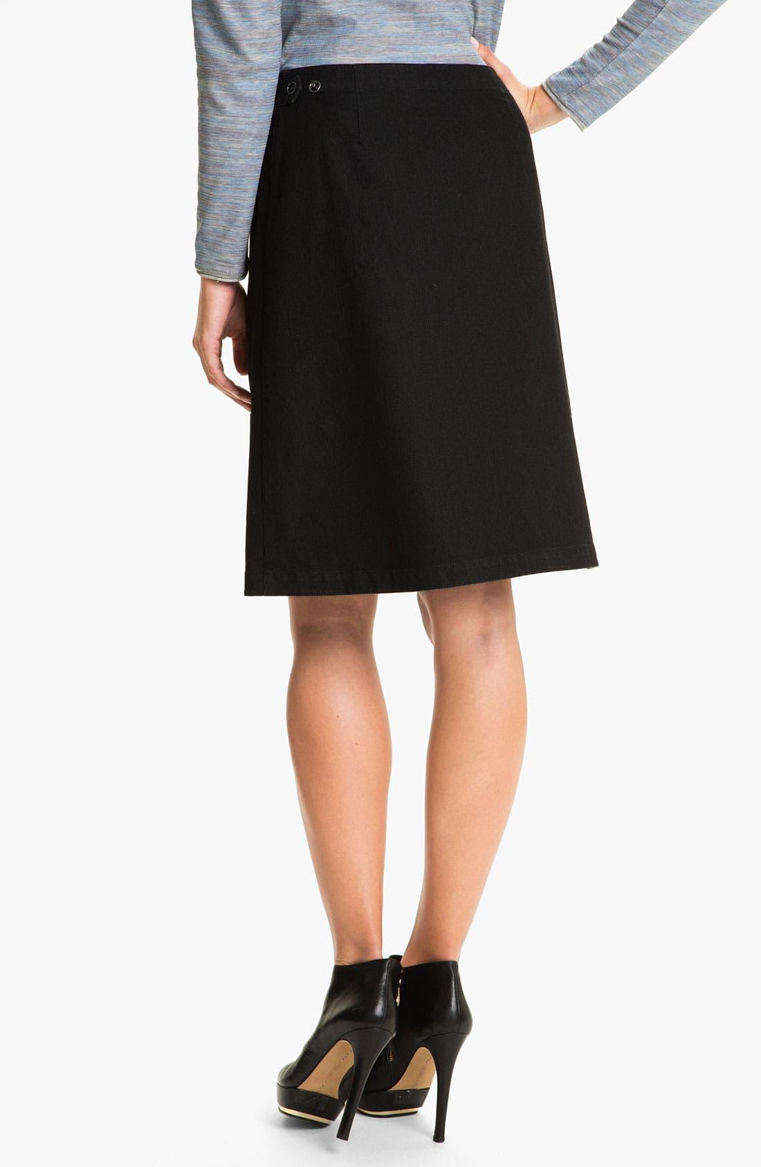 Alternate Image 2  - Lafayette 148 New York Yarn Dyed Denim Skirt