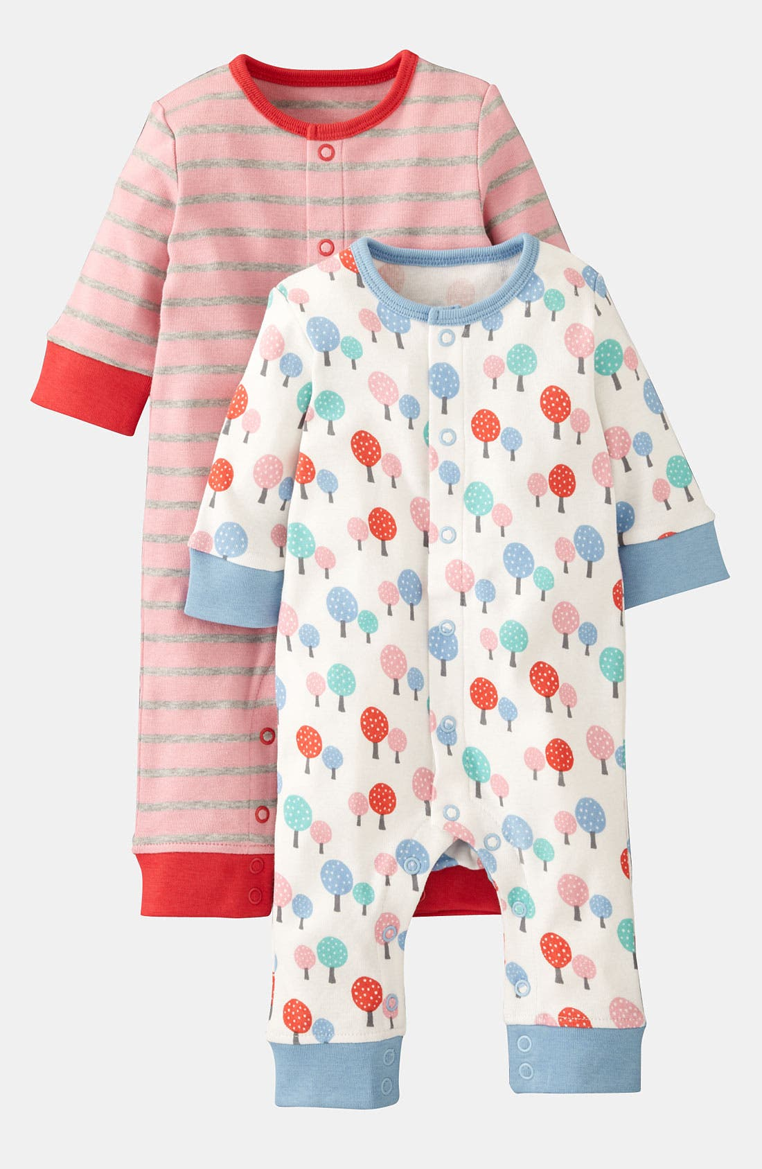 Alternate Image 1 Selected - Mini Boden Coveralls (2-Pack) (Infant)