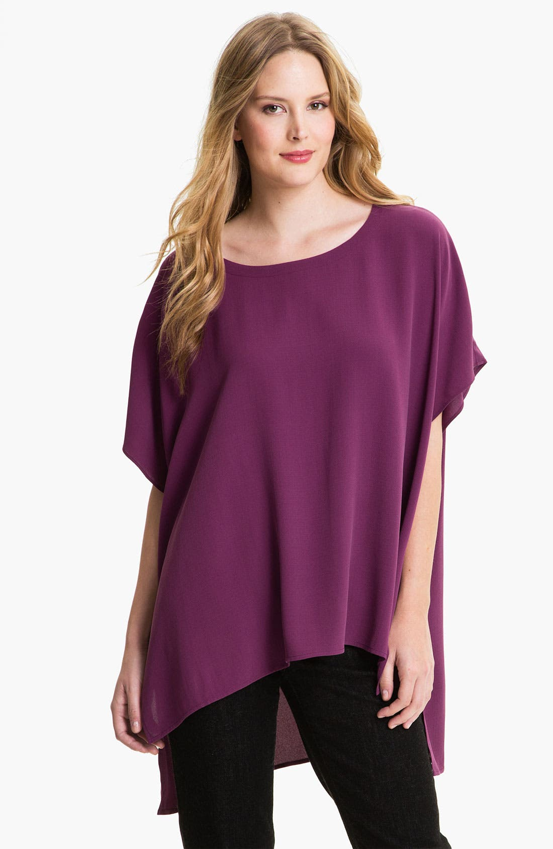 Alternate Image 1 Selected - Eileen Fisher Silk Tunic