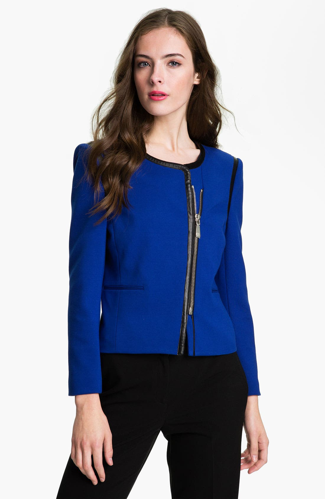 Alternate Image 1 Selected - Vince Camuto Asymmetrical Zip Jacket