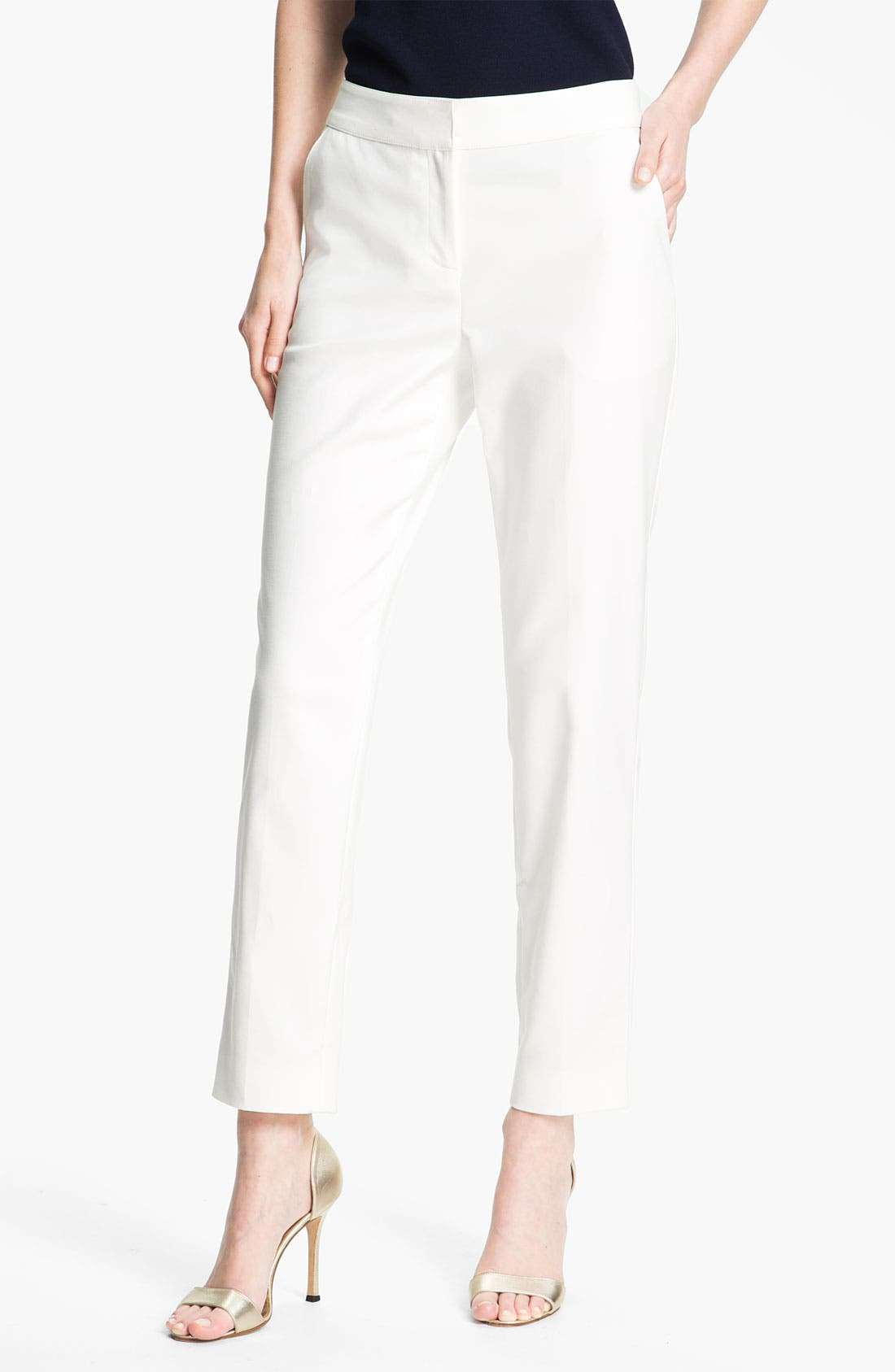 Alternate Image 2  - St. John Collection Double Weave Stretch Cotton Pants