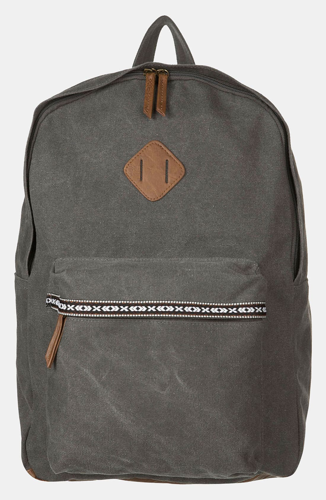 Main Image - Topman Washed Canvas Backpack