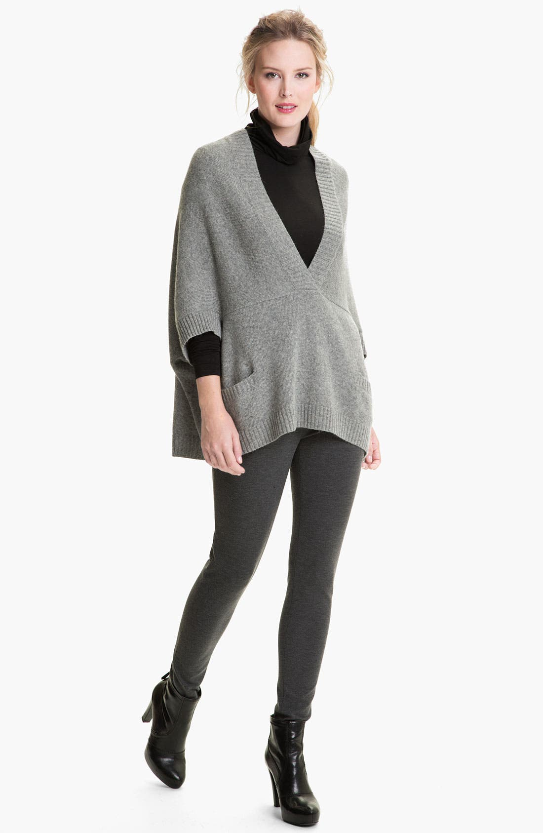 Alternate Image 4  - Lafayette 148 New York Wool Blend Poncho Pullover