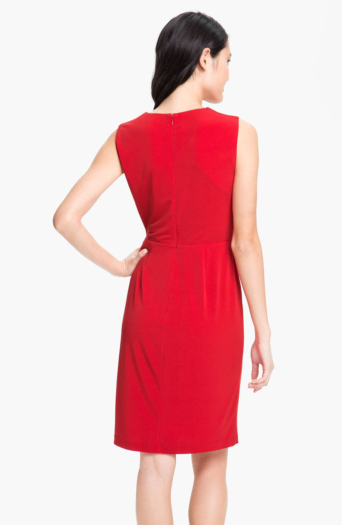 Alternate Image 2  - Calvin Klein Side Ruffle Jersey Sheath Dress