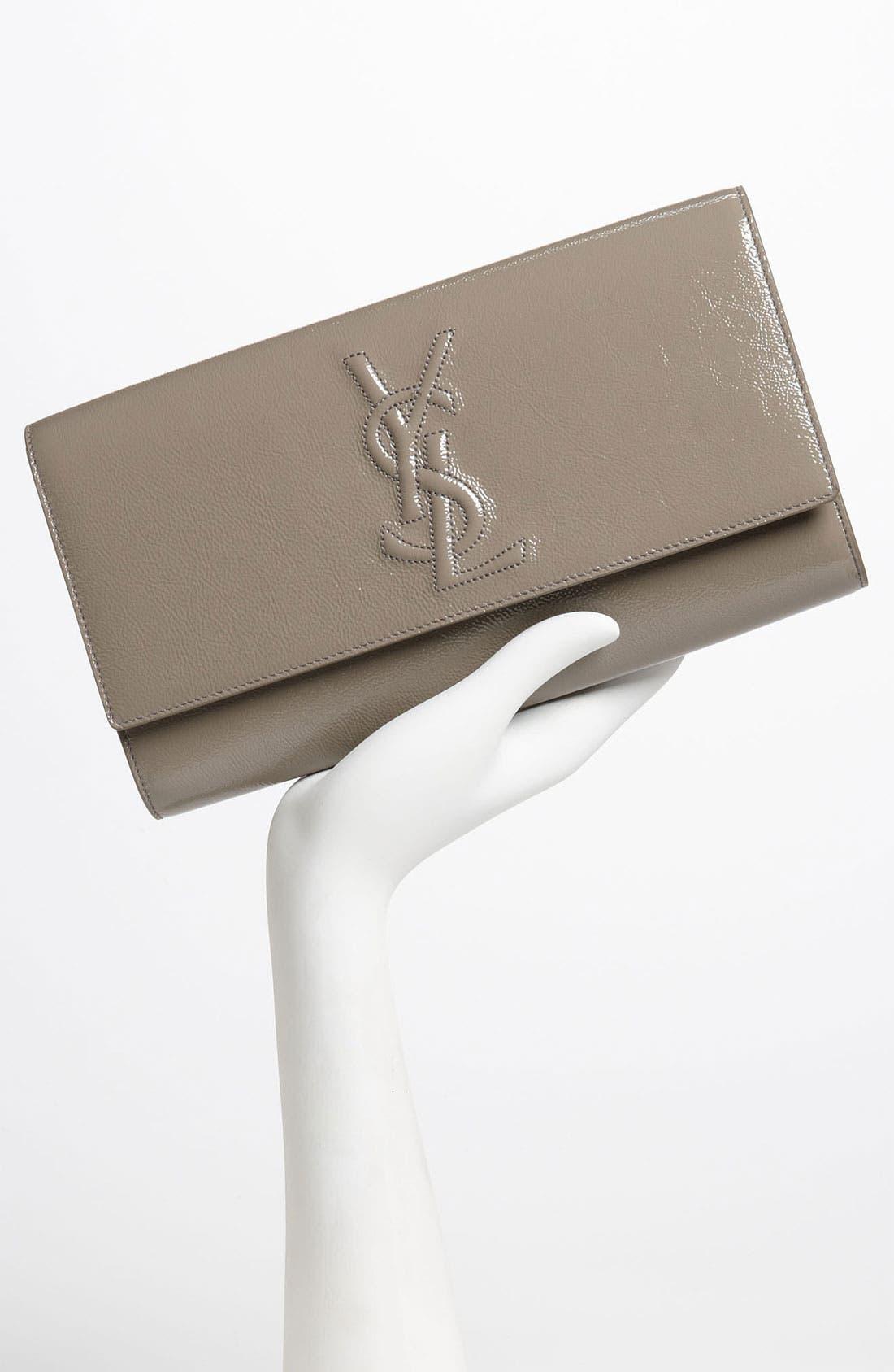 Alternate Image 2  - Yves Saint Laurent 'Belle de Jour - Large' Patent Envelope Clutch