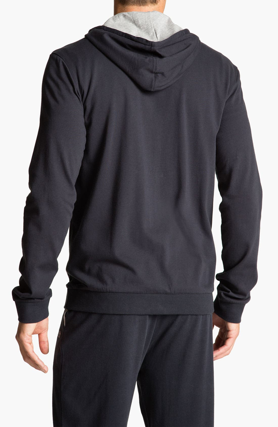 Alternate Image 2  - BOSS HUGO BOSS Cotton Zip Hoodie