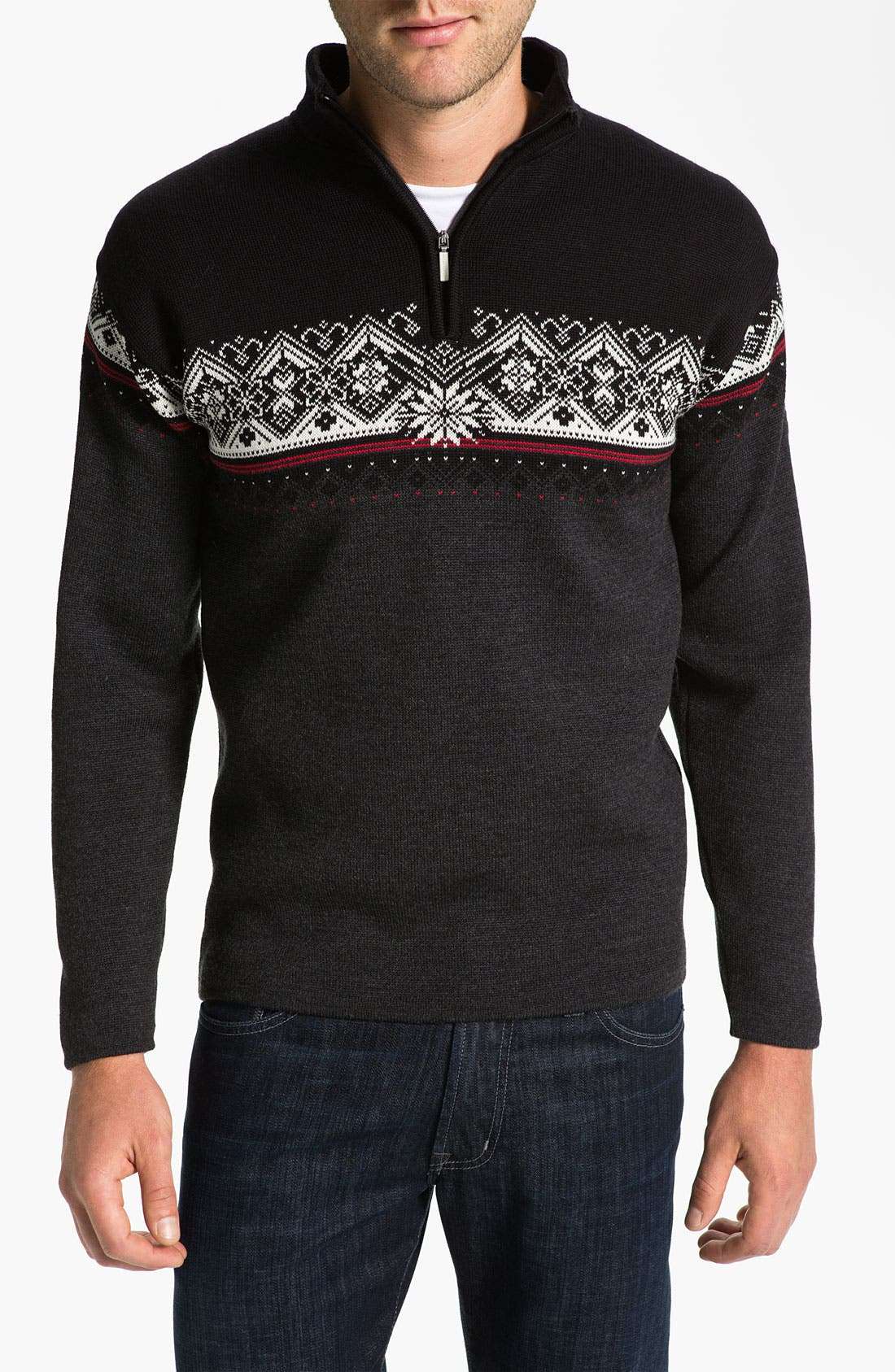 Alternate Image 1 Selected - Dale of Norway 'St Moritz' Quarter Zip Merino Wool Sweater