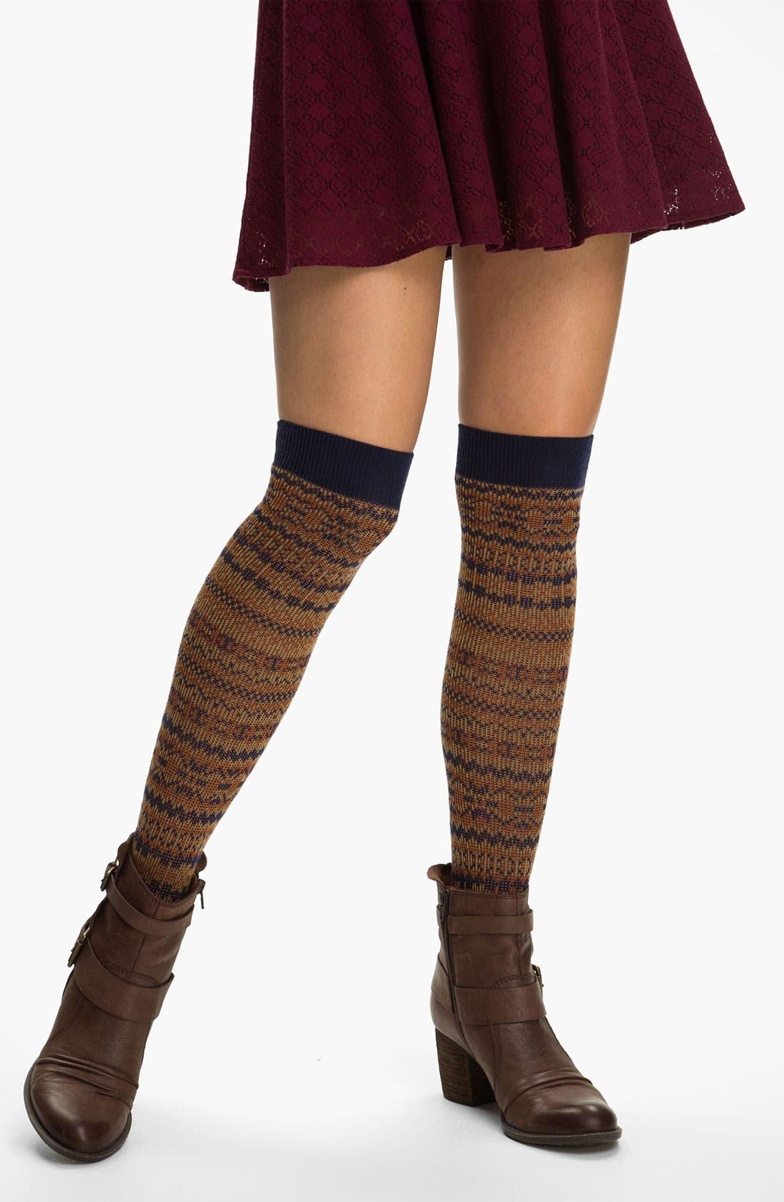 Main Image - Free People 'Holland' Over the Knee Socks