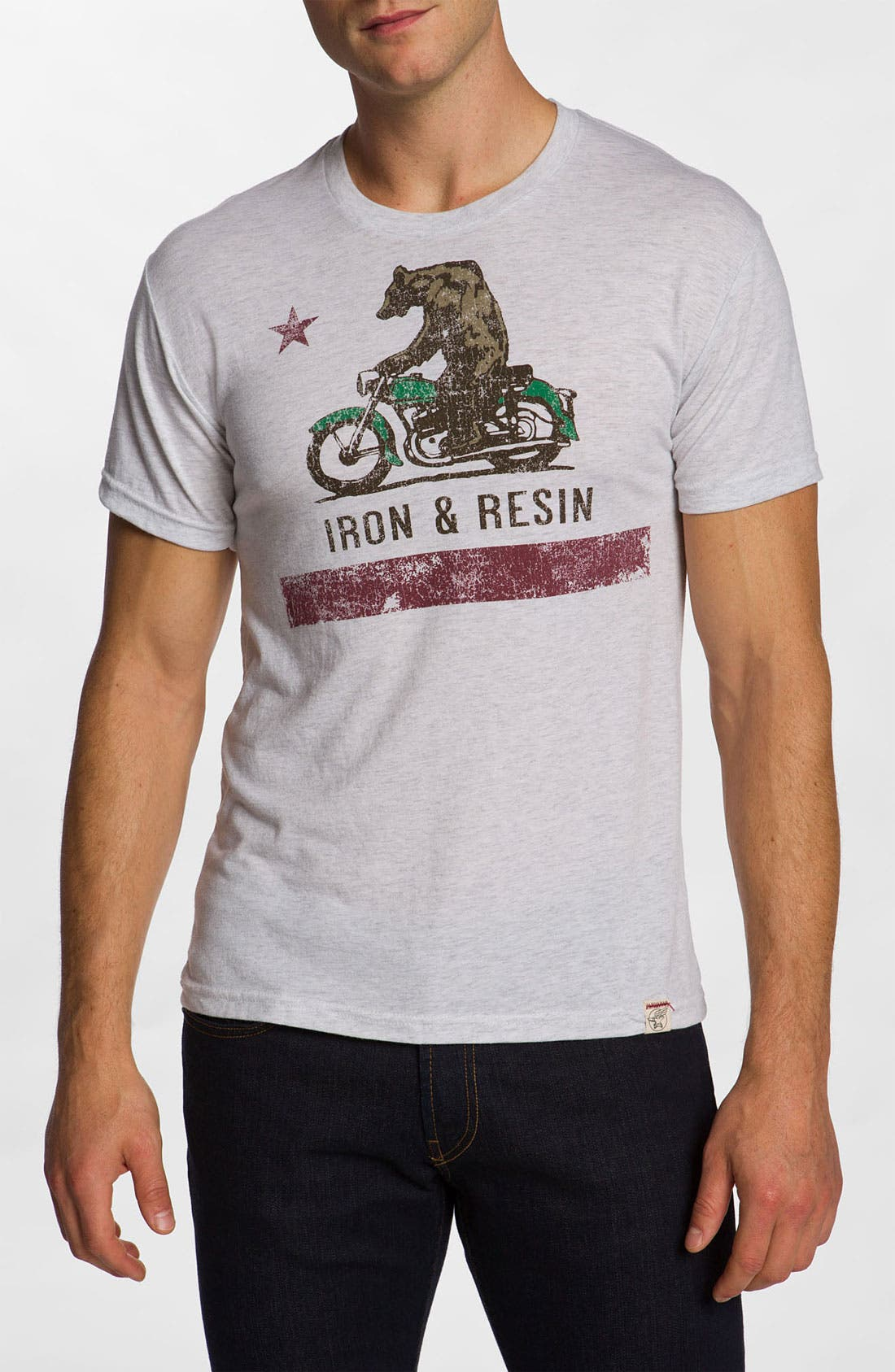 Alternate Image 1 Selected - Iron & Resin 'Moto Bear' Screenprint Tee