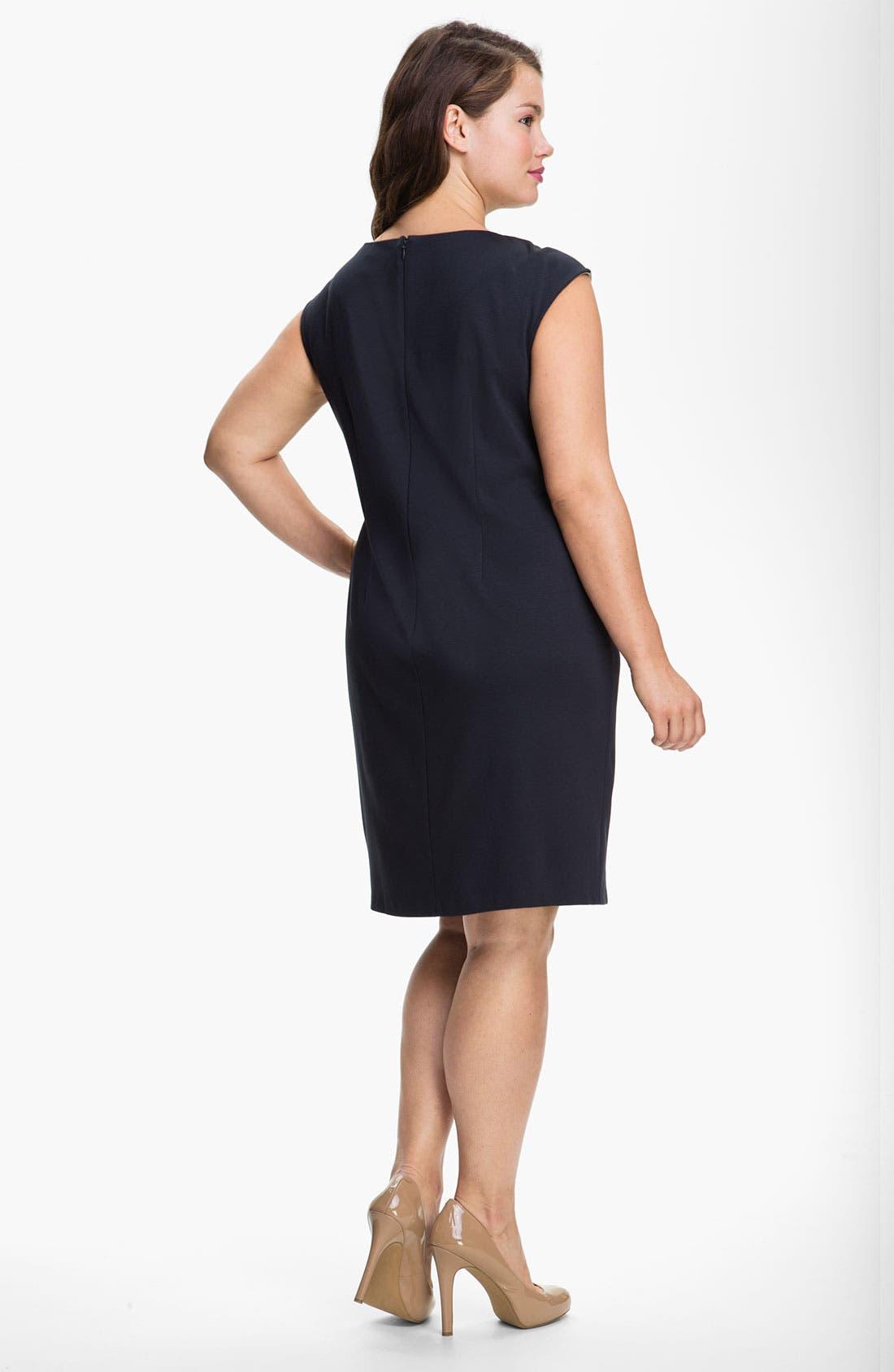 Alternate Image 2  - Adrianna Papell Colorblock Shift Dress (Plus)