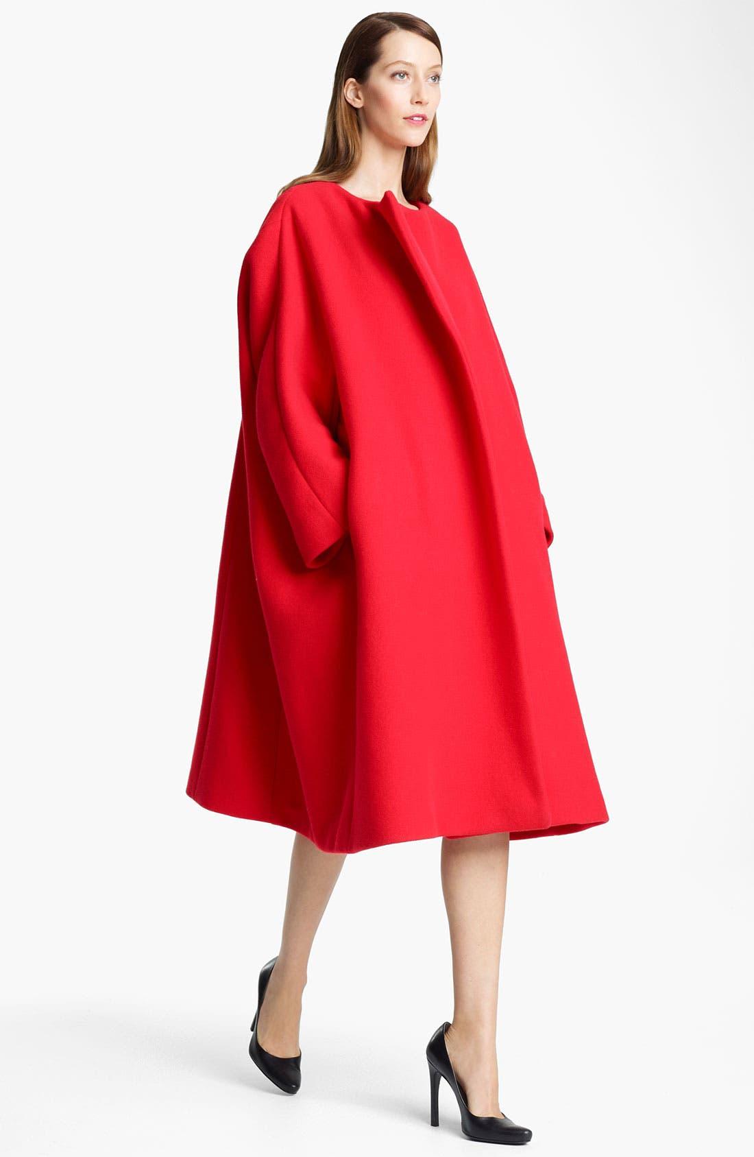 Alternate Image 1 Selected - Jil Sander Oversized Double Face Melton Wool Coat
