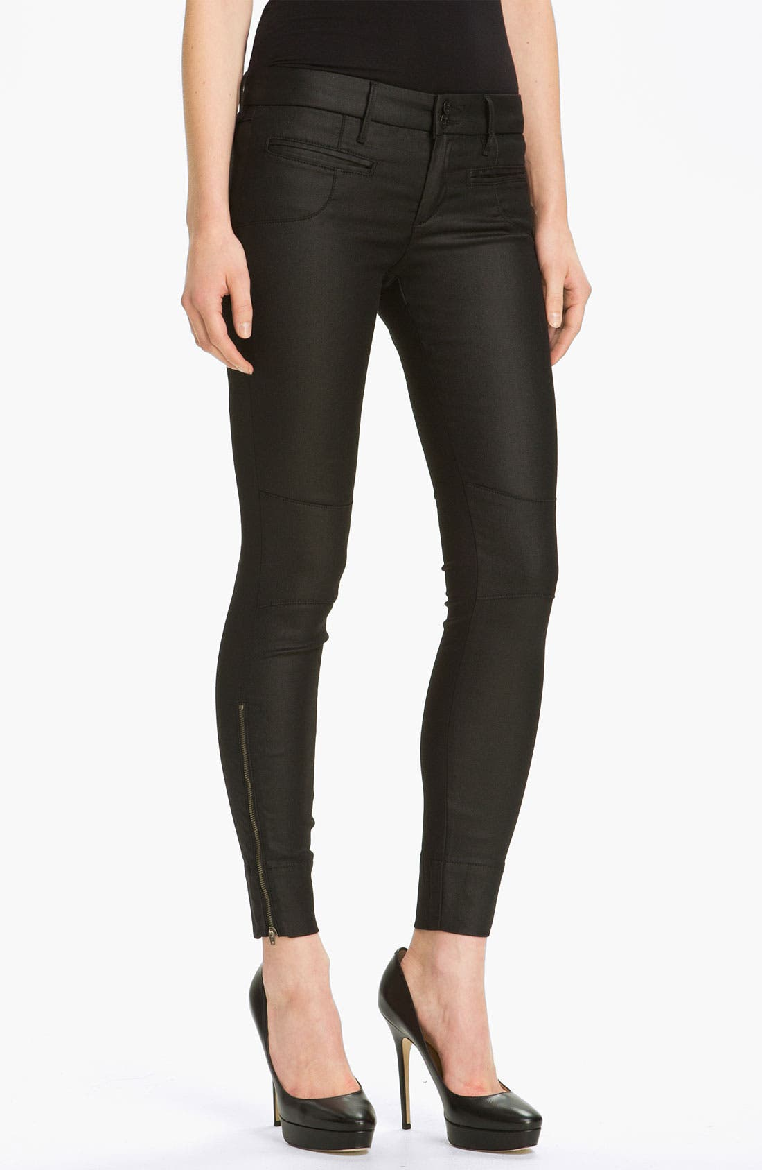 Main Image - Habitual 'Addison' Waxed Skinny Stretch Jeans