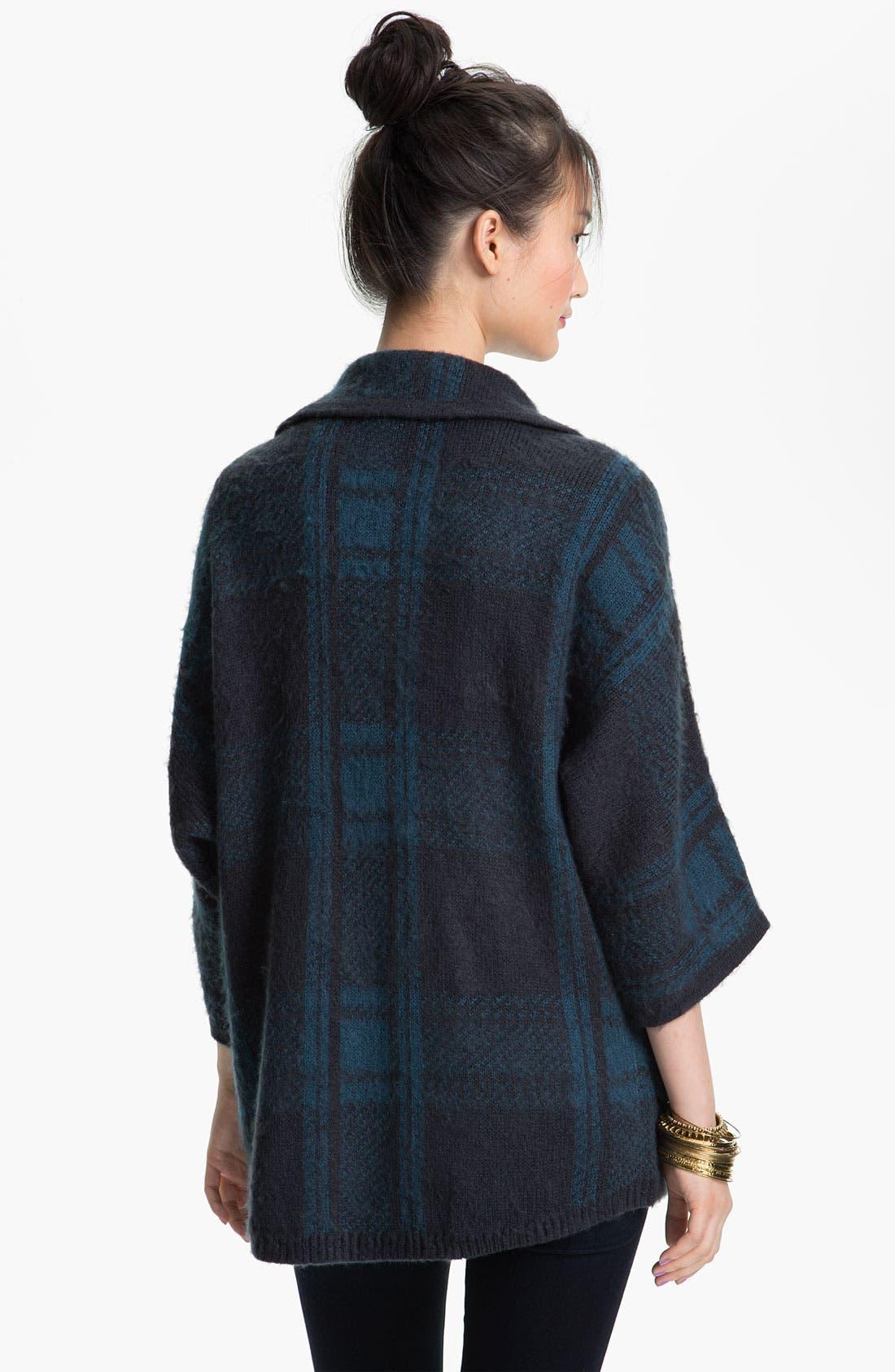 Alternate Image 2  - Rubbish® Plaid Knit Cardigan (Juniors)