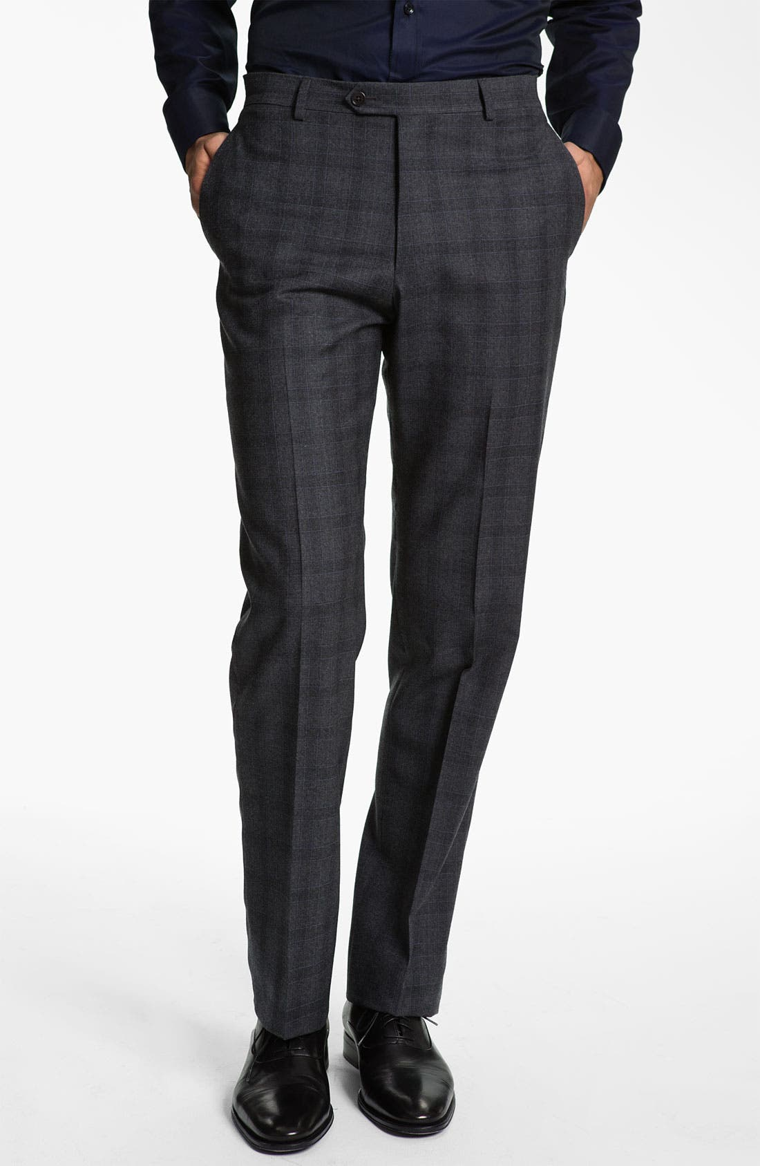 Main Image - Armani Collezioni Plaid Print Wool Trousers