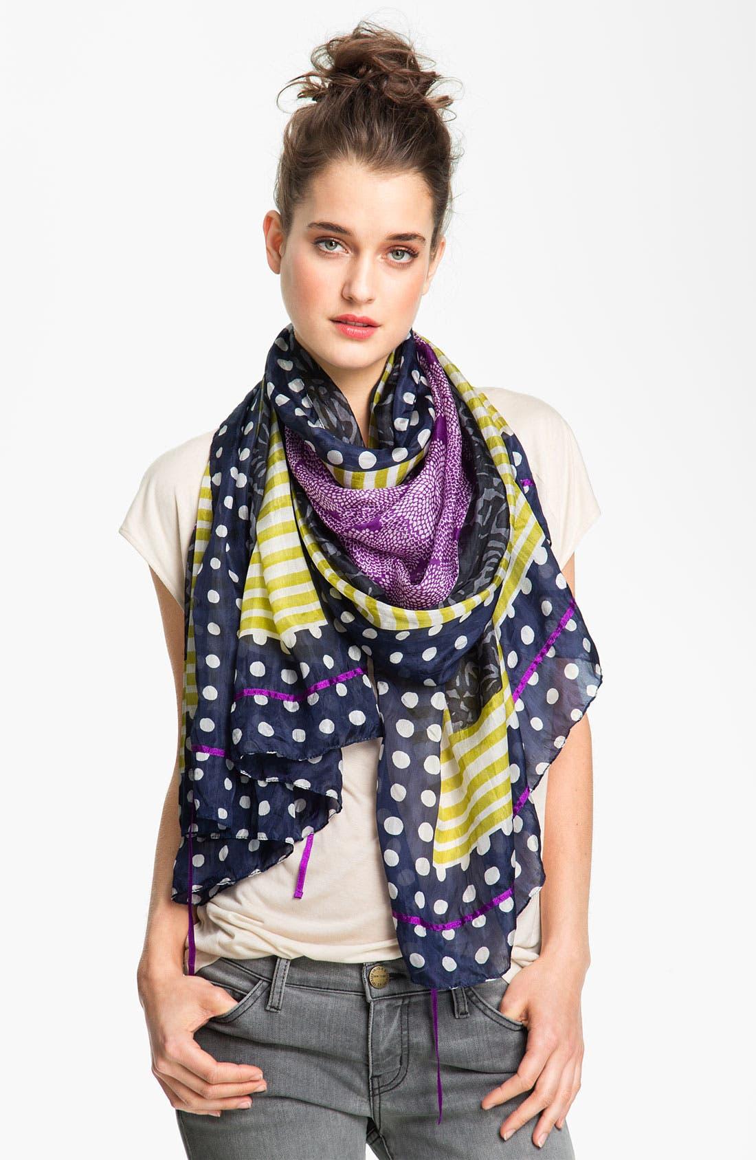 Main Image - Michael Stars 'Artisan Border' Silk Wrap