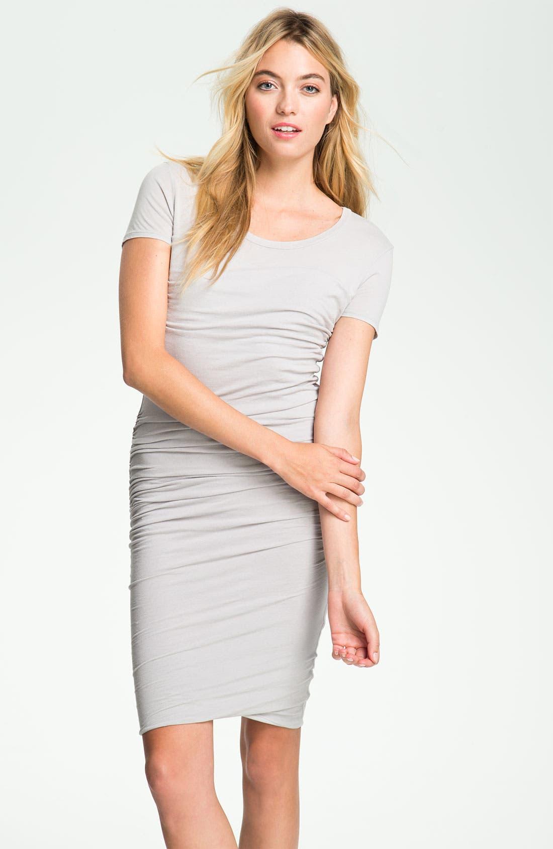 Main Image - James Perse Ruched T-Shirt Dress