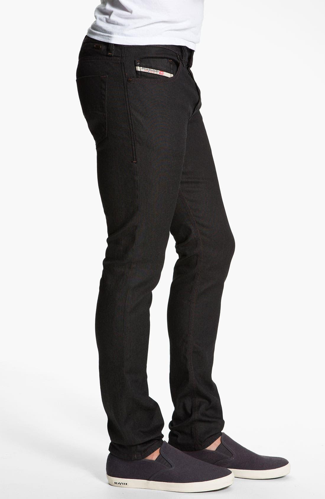 Alternate Image 3  - DIESEL® 'Tepphar' Slim Tapered Leg Jeans (0800W)