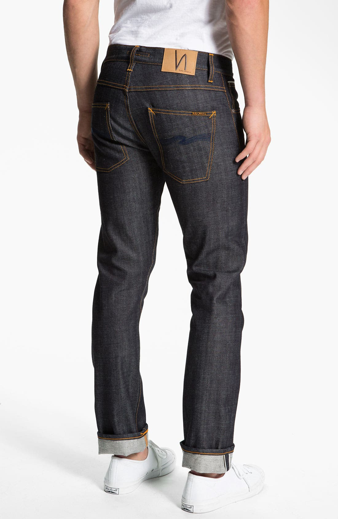 Alternate Image 1 Selected - Nudie 'Grim Tim' Skinny Straight Leg Jeans (Open Dry Selvage)