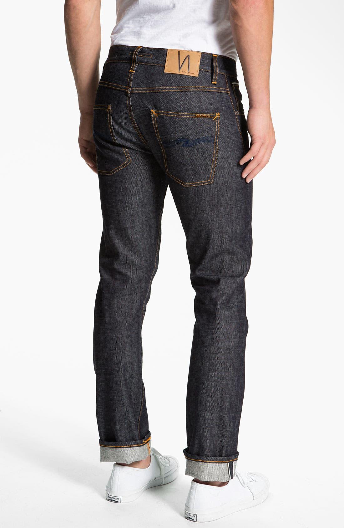 Main Image - Nudie 'Grim Tim' Skinny Straight Leg Jeans (Open Dry Selvage)