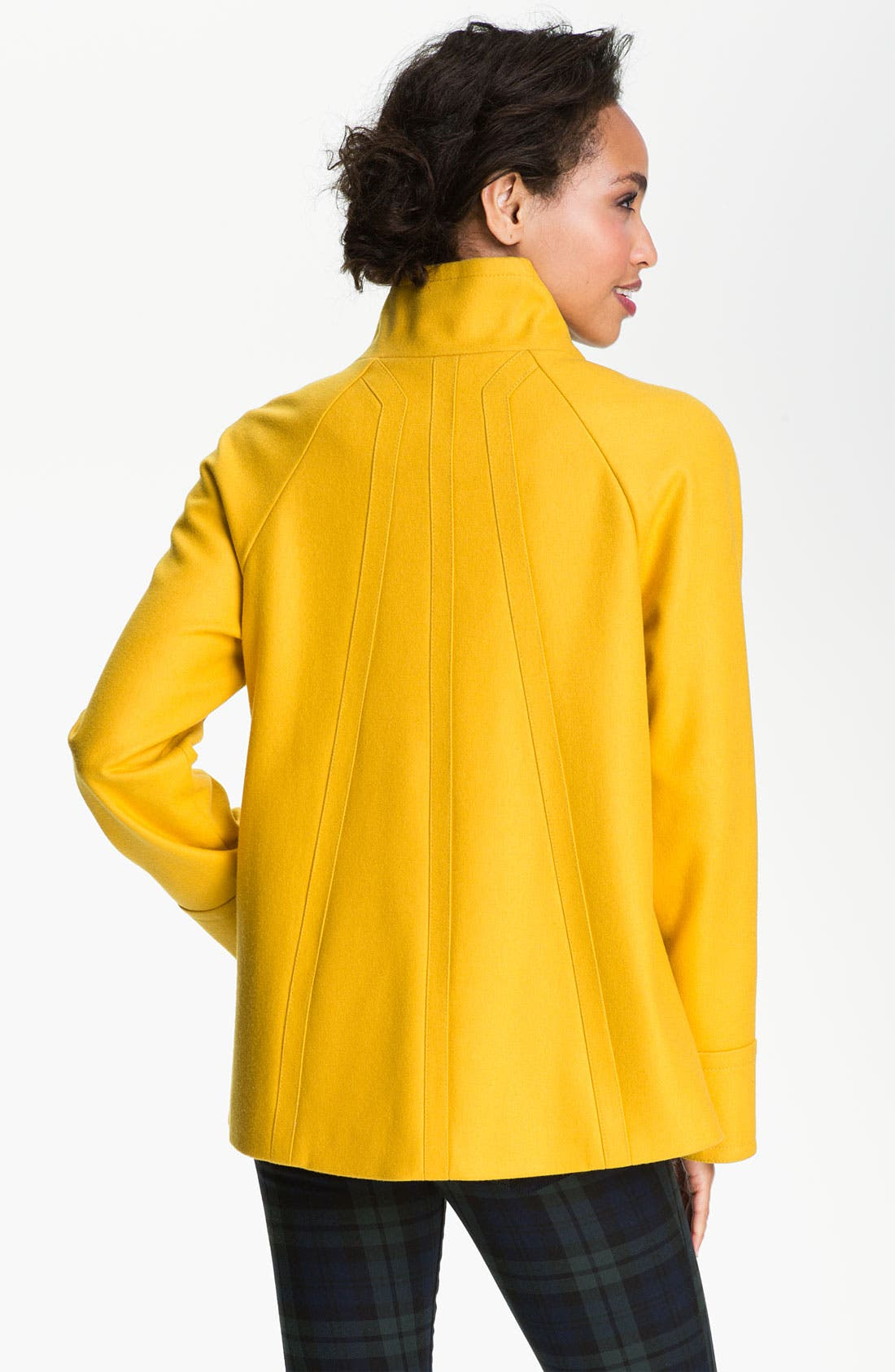 Alternate Image 2  - Ellen Tracy Stand Collar A-Line Coat (Nordstrom Exclusive)