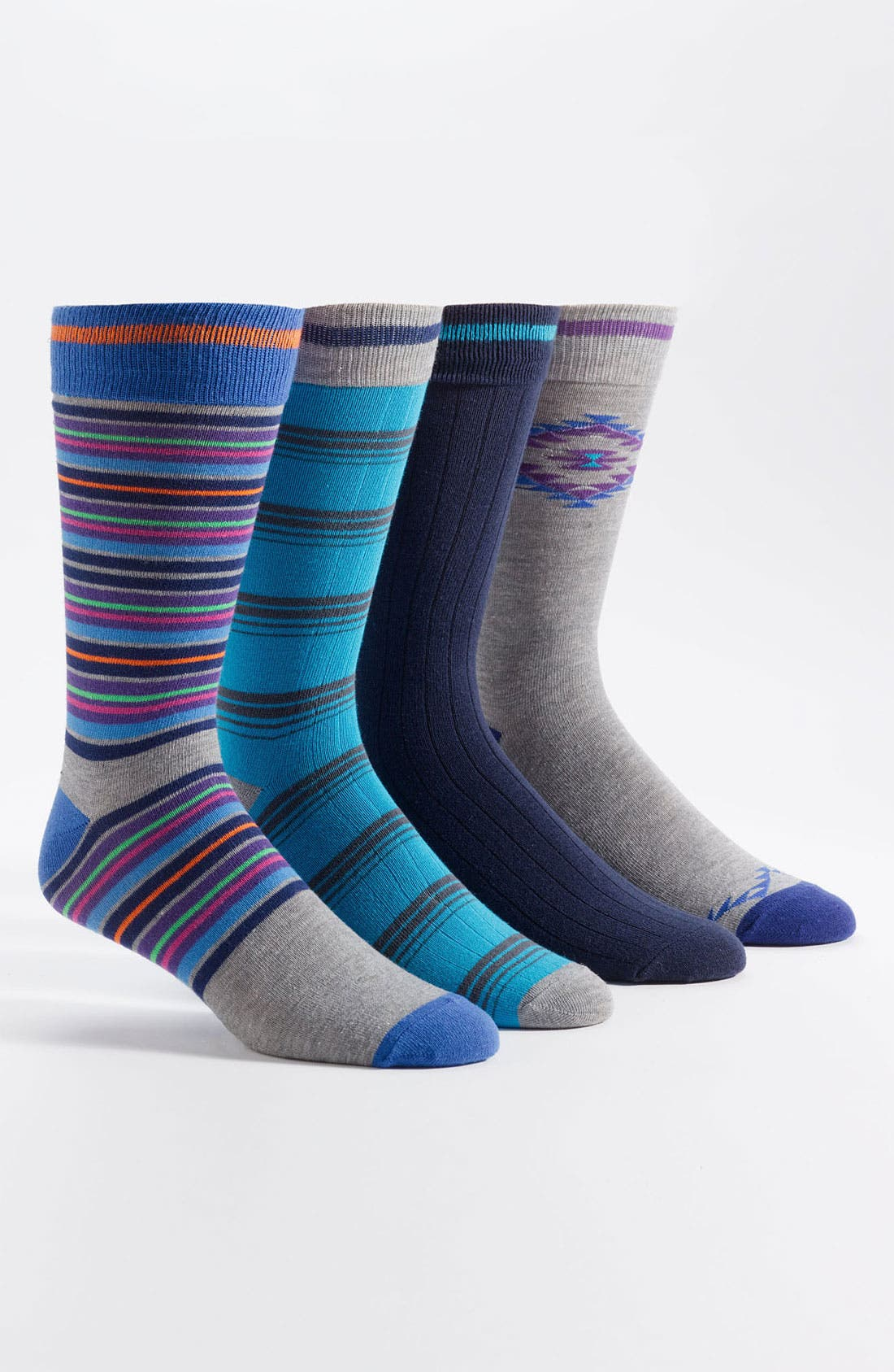 Main Image - Basic Sock Patterned Socks (4-Pack)