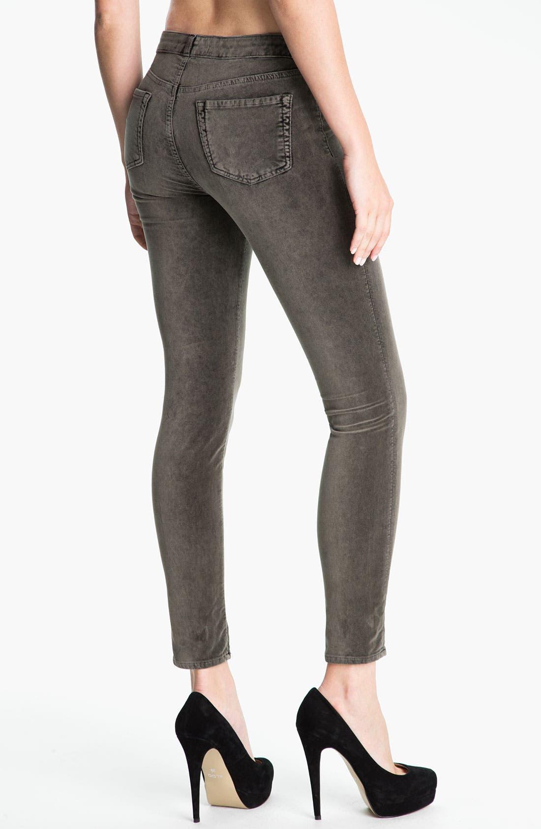 Alternate Image 2  - J Brand Stretch Velvet Leggings