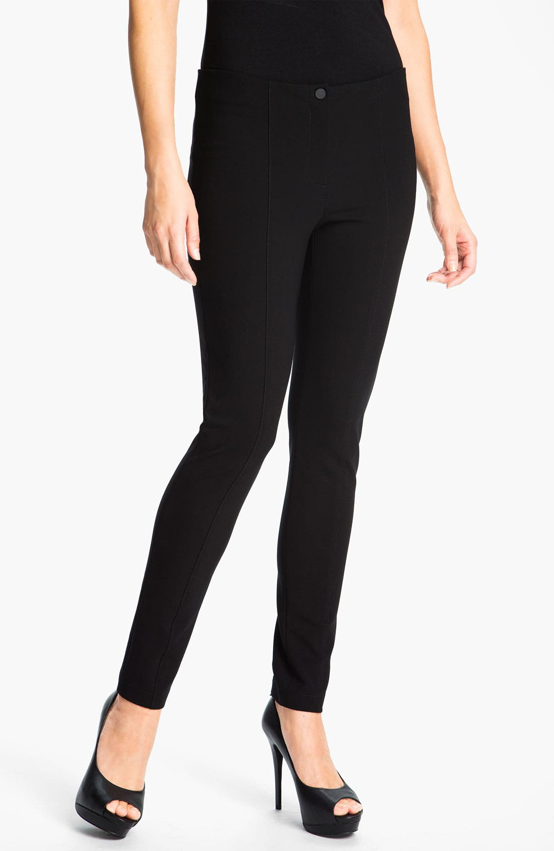 Alternate Image 1 Selected - Lafayette 148 New York Matte Jersey Slim Pants