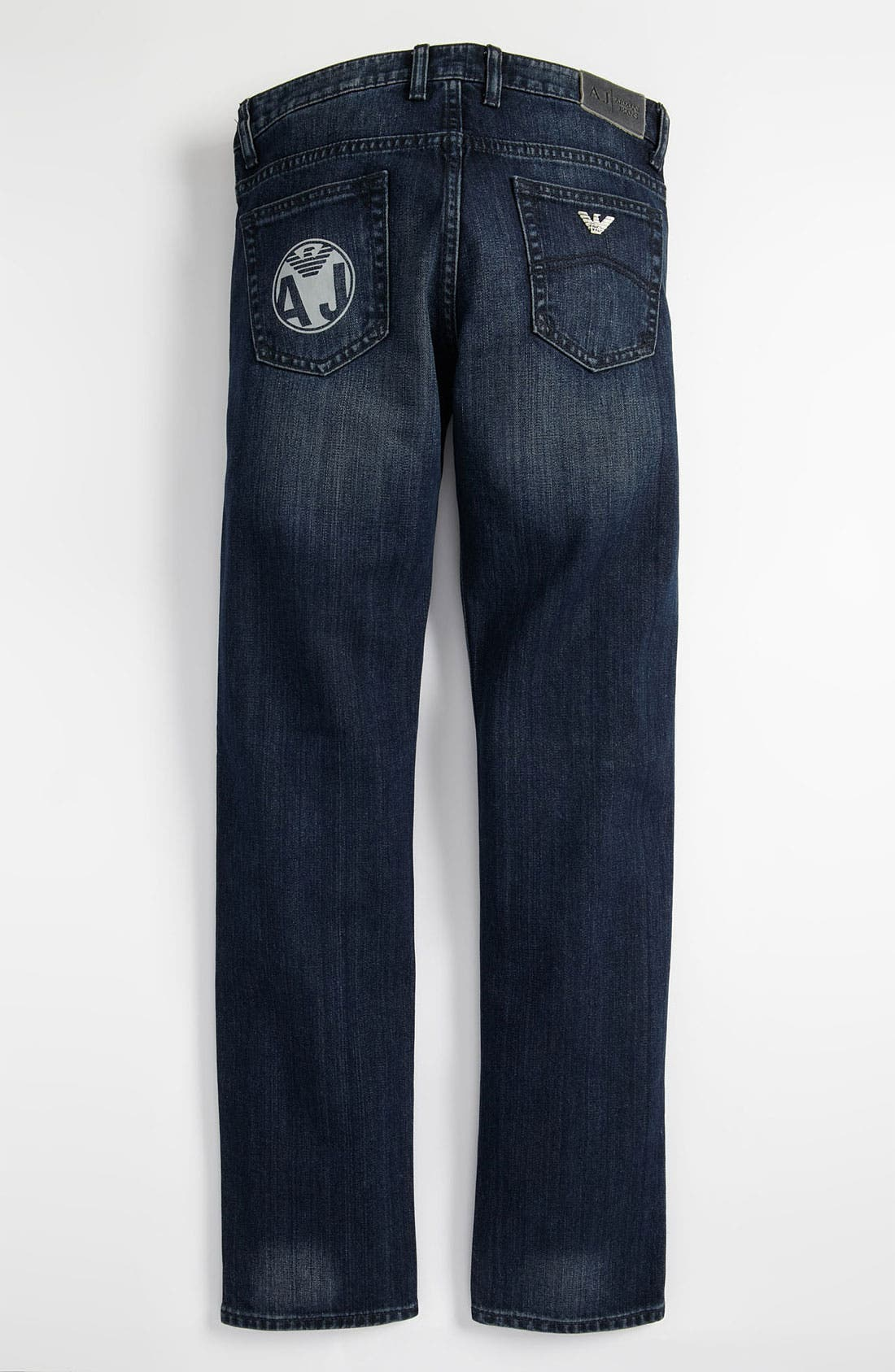 Main Image - Armani Junior Straight Leg Jeans (Big Boys)
