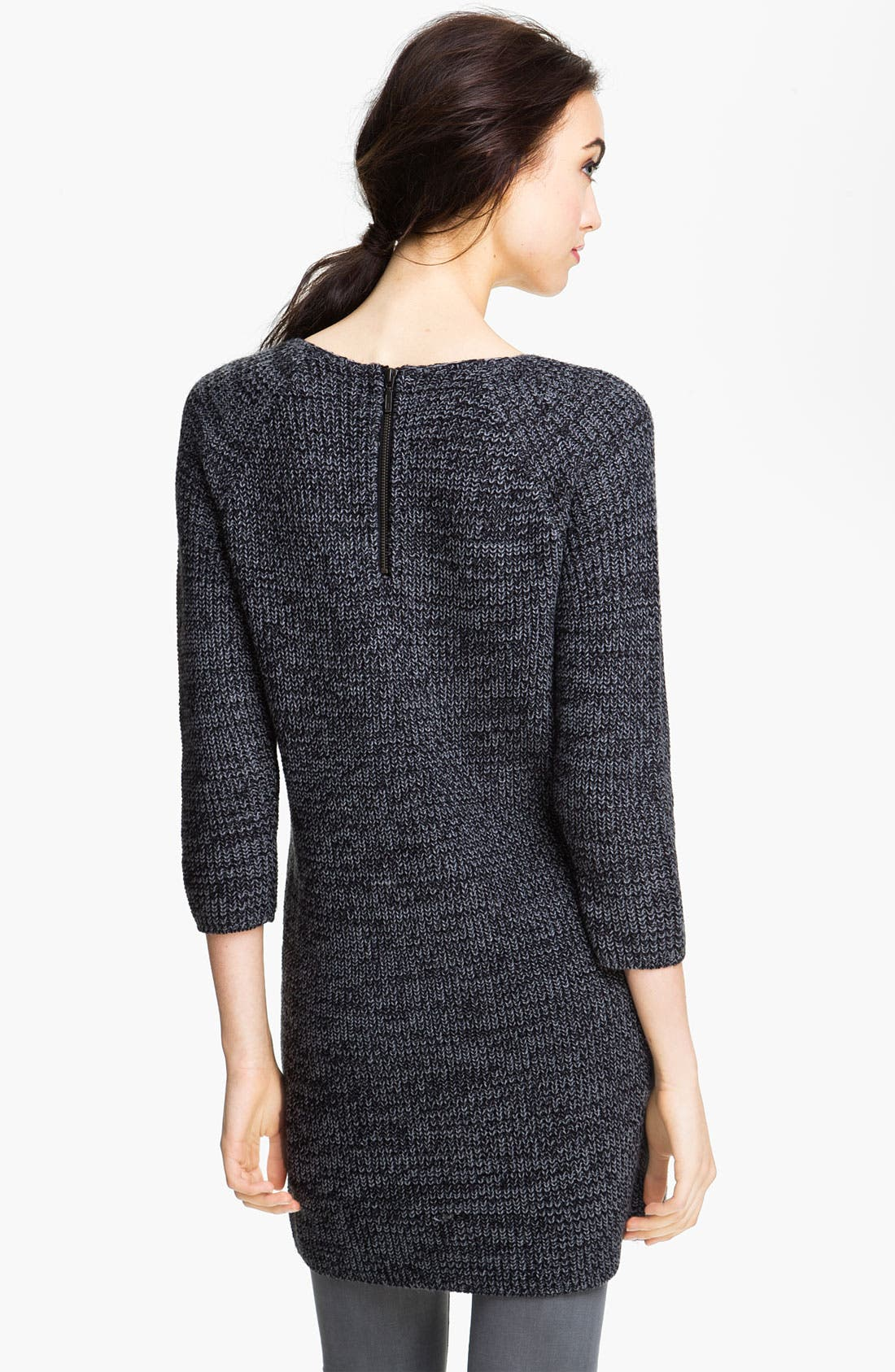 Alternate Image 2  - Caslon® Shaker Stitch Sweater Dress