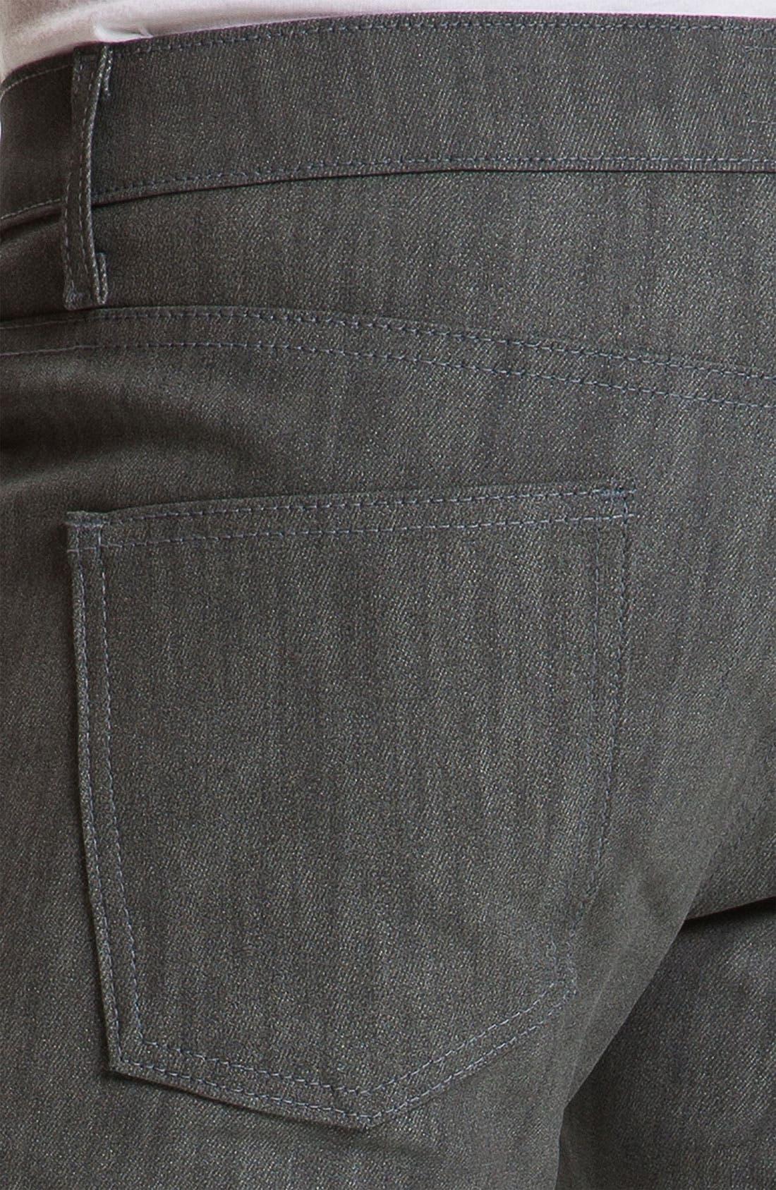 Alternate Image 5  - Naked & Famous Denim 'Skinny Guy' Slim Straight Leg Jeans (Grey Glow In The Dark)