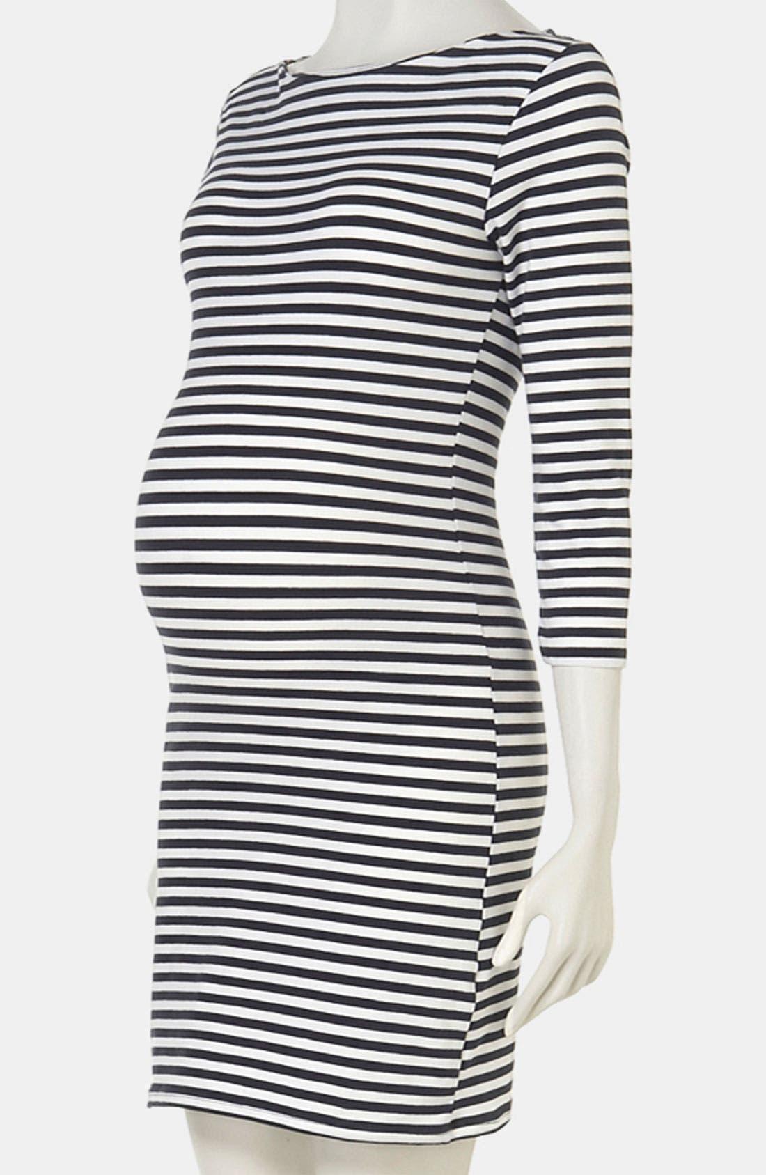 Alternate Image 1 Selected - Topshop Stripe Maternity Dress