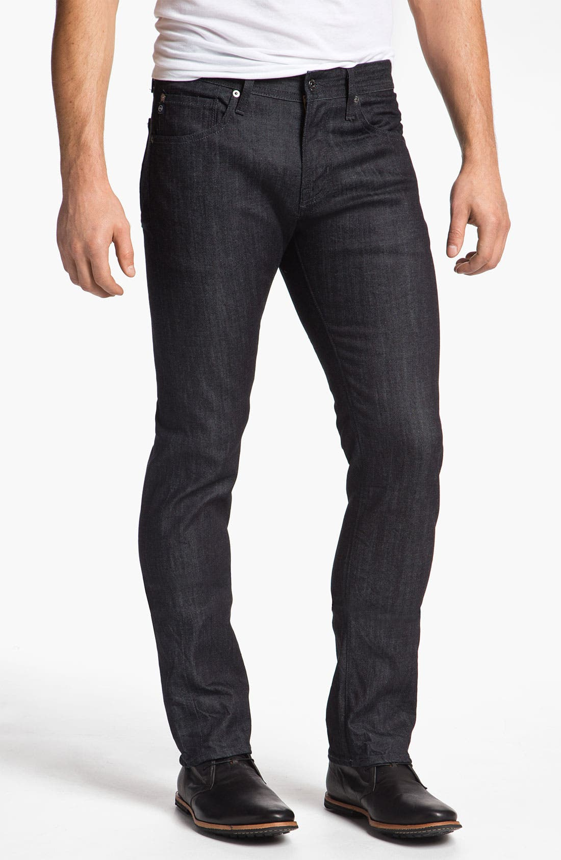 Alternate Image 1 Selected - AG Jeans 'Matchbox' Slim Straight Leg Jeans (Baltic)(Save Now through 12/9)